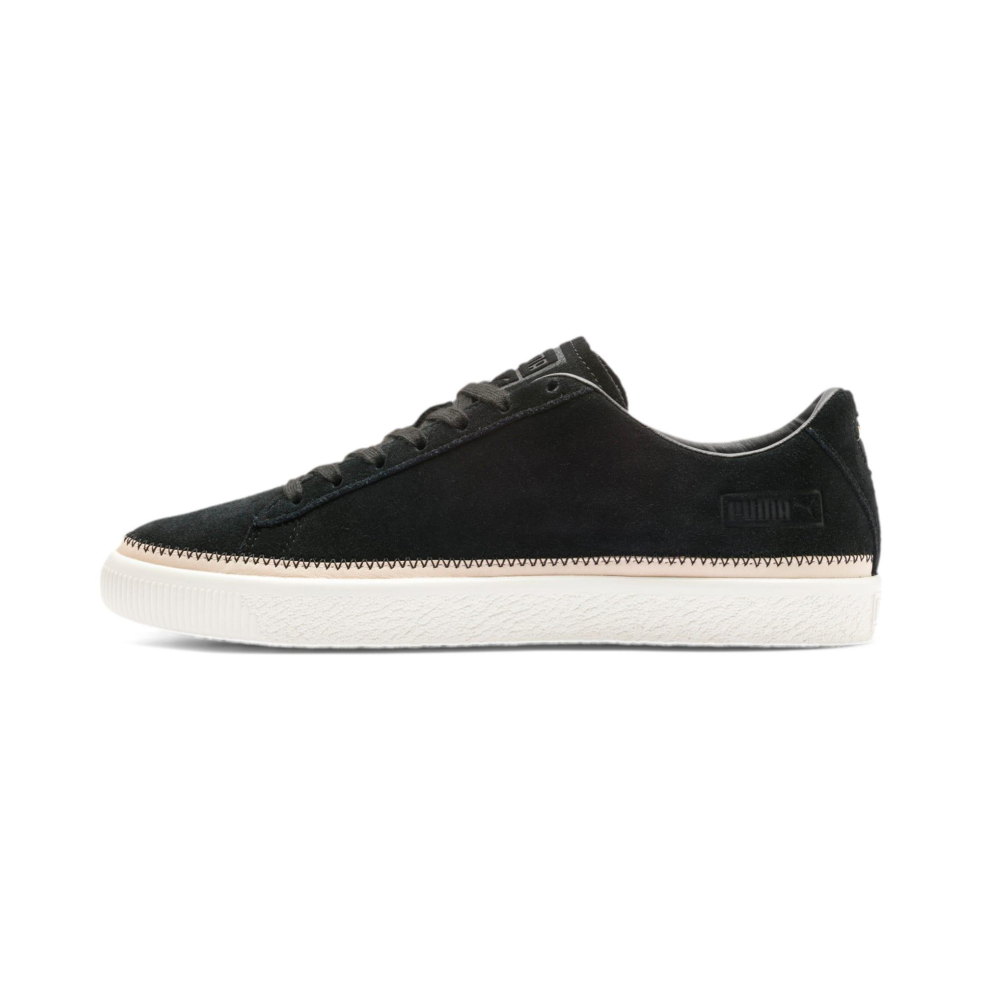Thumbnail 1 of Suede Trim PRM Sneakers, Puma Black-Whisper White, medium