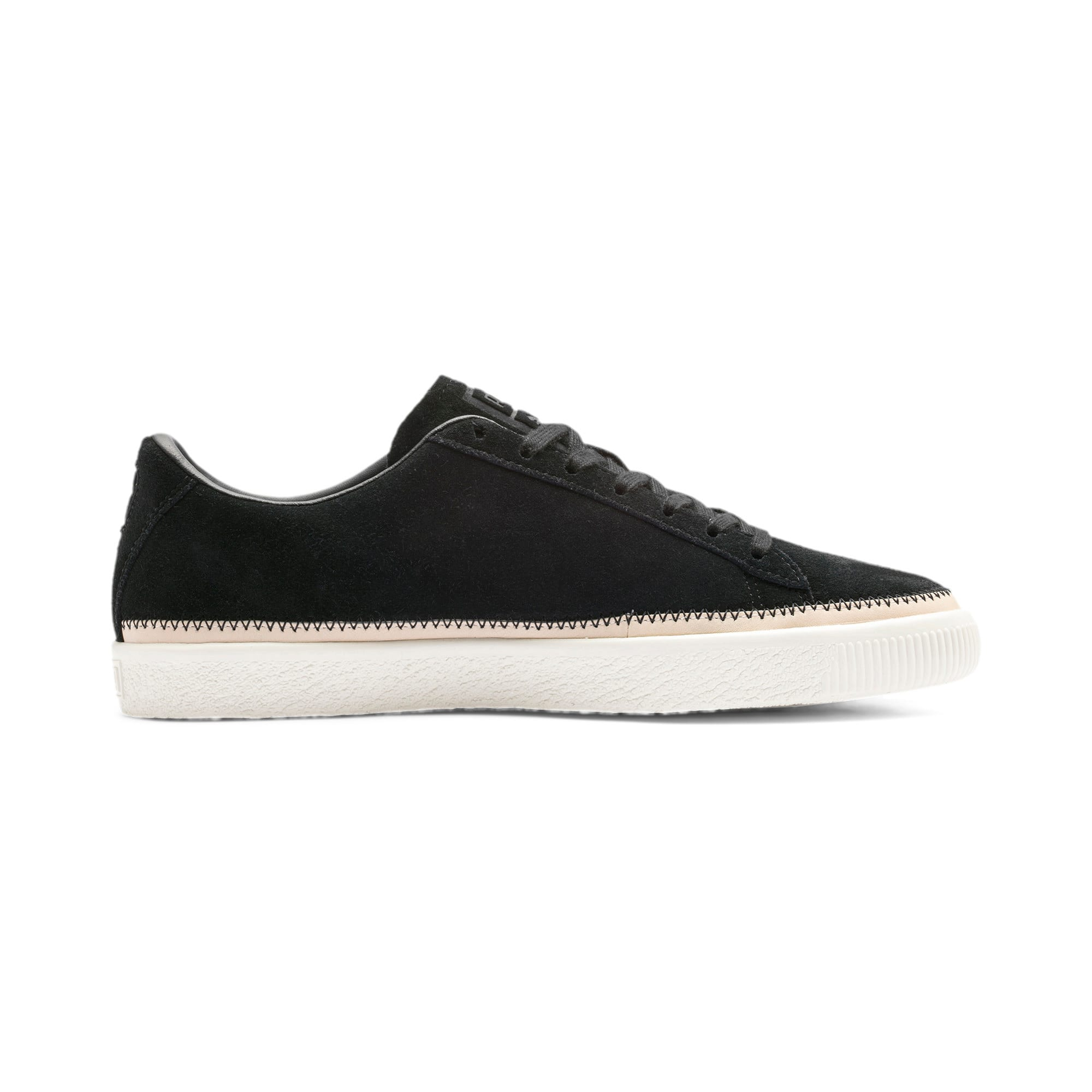Thumbnail 6 of Suede Trim PRM Sneakers, Puma Black-Whisper White, medium