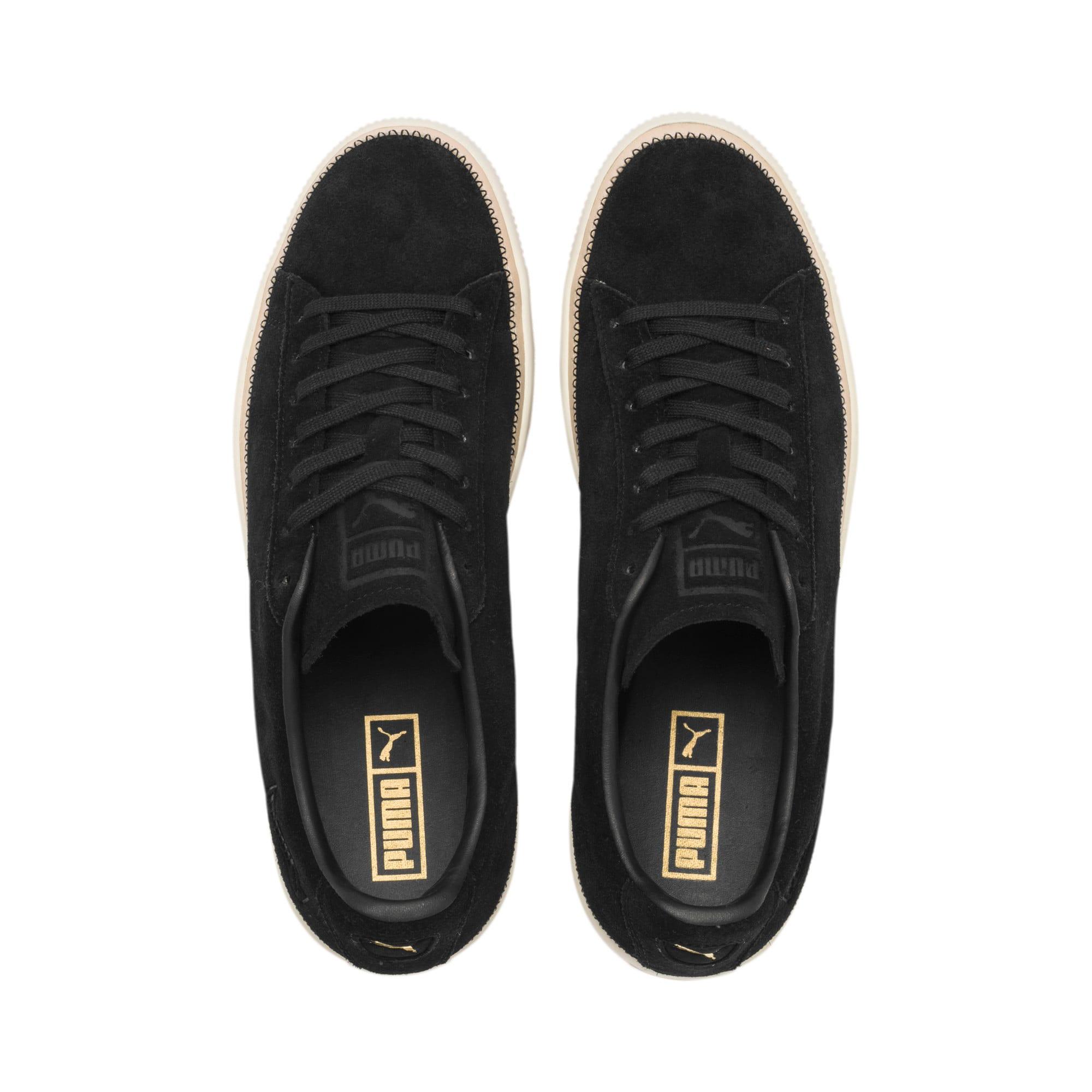 Thumbnail 7 of Suede Trim PRM Sneakers, Puma Black-Whisper White, medium
