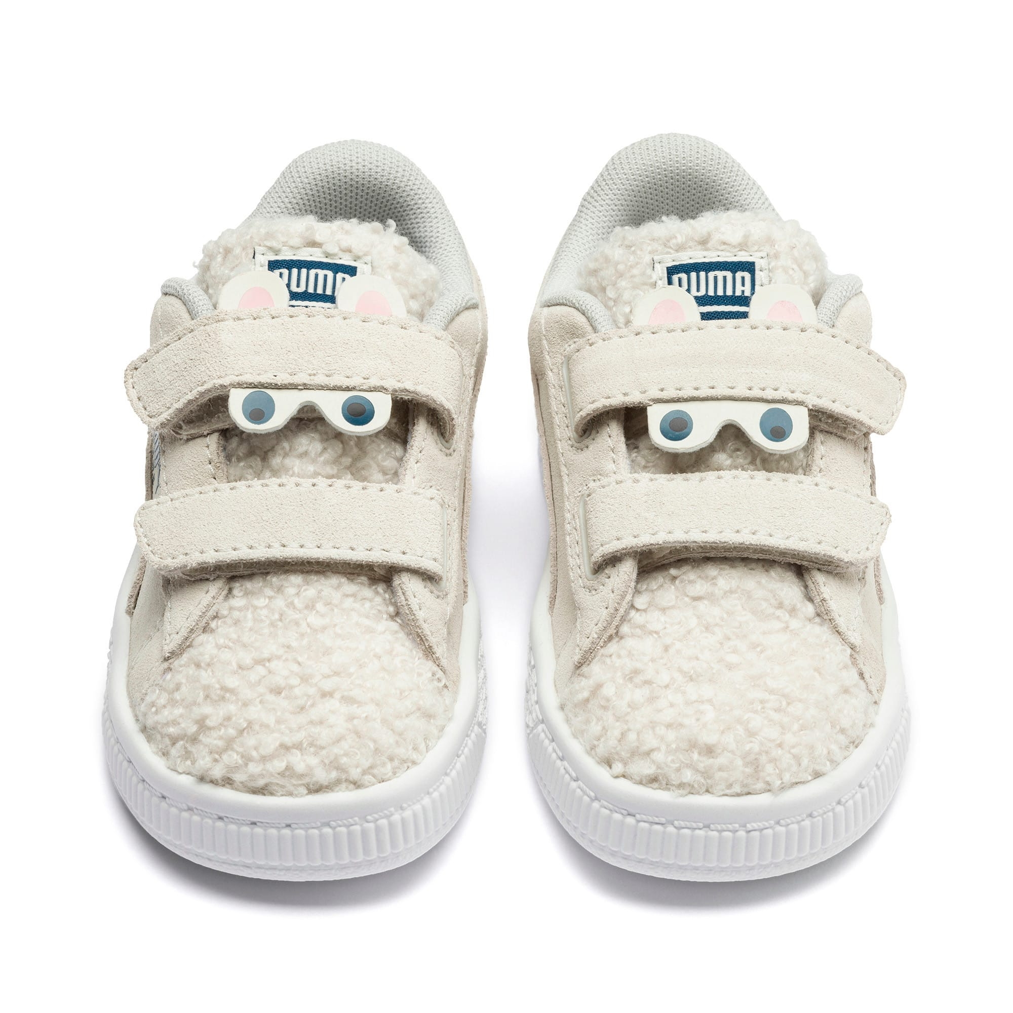 Thumbnail 7 of Suede Winter Monster Babies' Trainers, Whisper White-Gibraltar Sea, medium