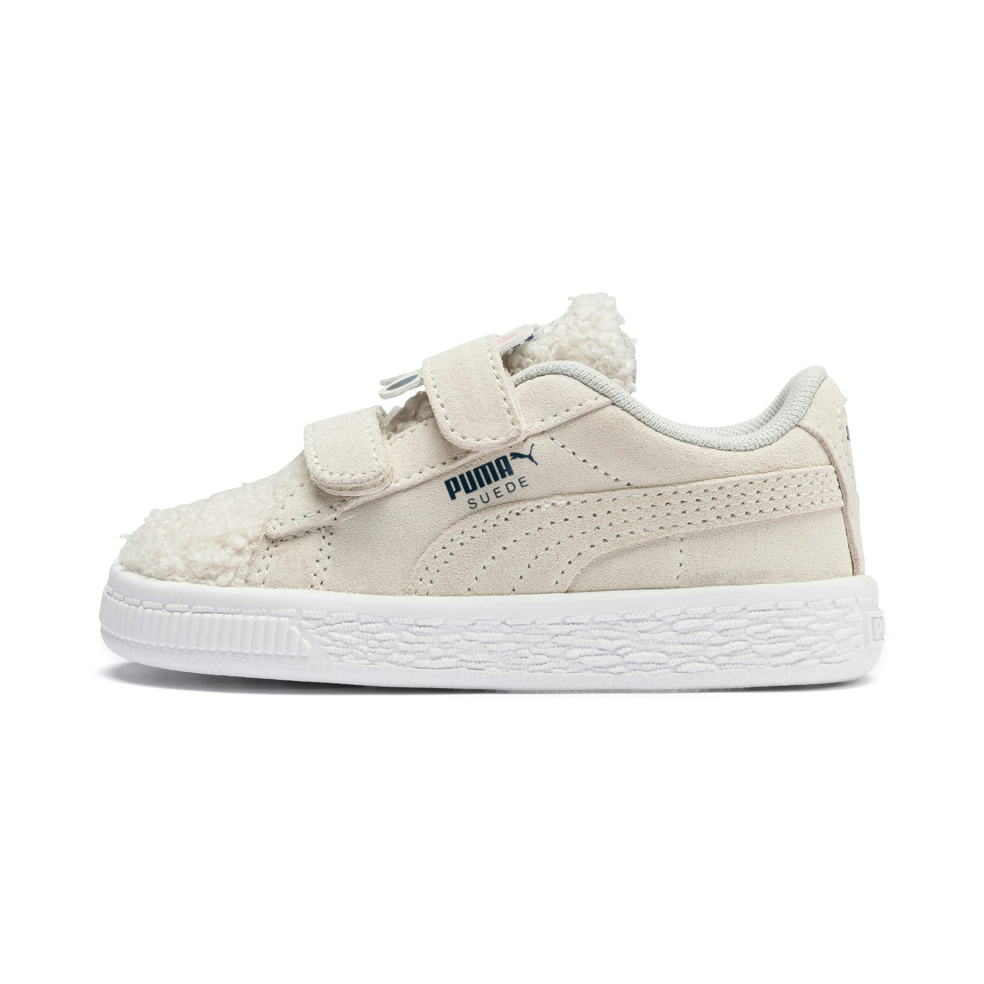 Thumbnail 1 of Suede Winter Monster Babies' Trainers, Whisper White-Gibraltar Sea, medium
