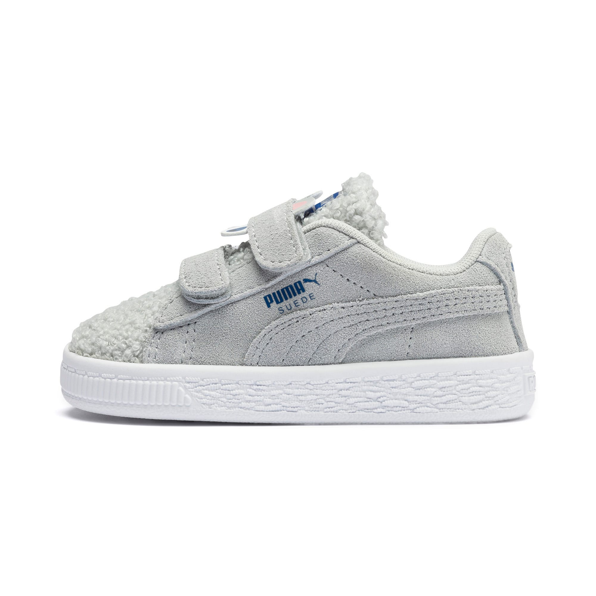 Thumbnail 1 of Suede Winter Monster Babies' Trainers, High Rise-Galaxy Blue, medium