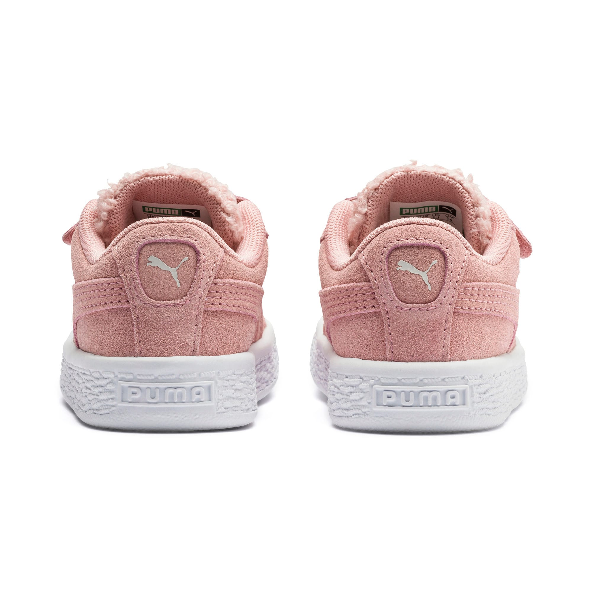Thumbnail 3 of Suede Winter Monster Babies' Trainers, Bridal Rose-Mocha Mousse, medium