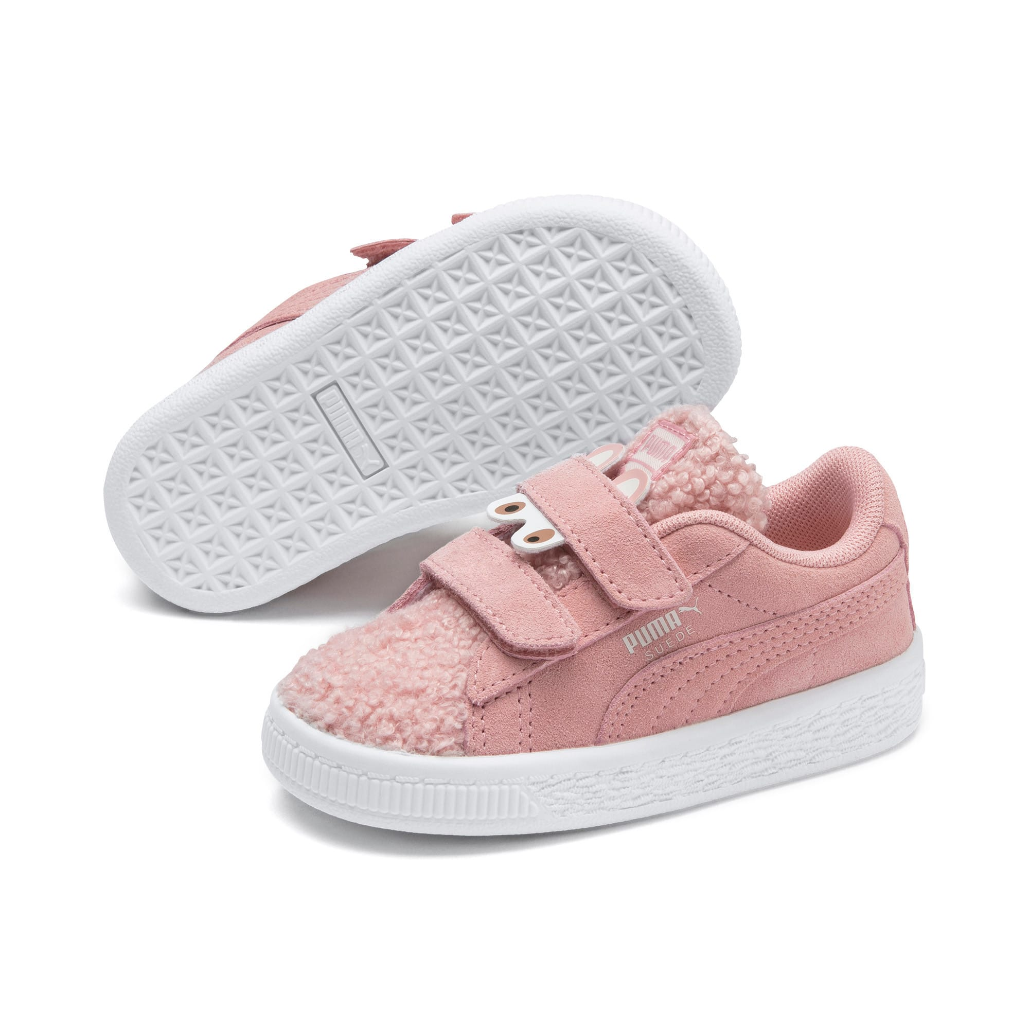 Thumbnail 2 of Suede Winter Monster Babies' Trainers, Bridal Rose-Mocha Mousse, medium