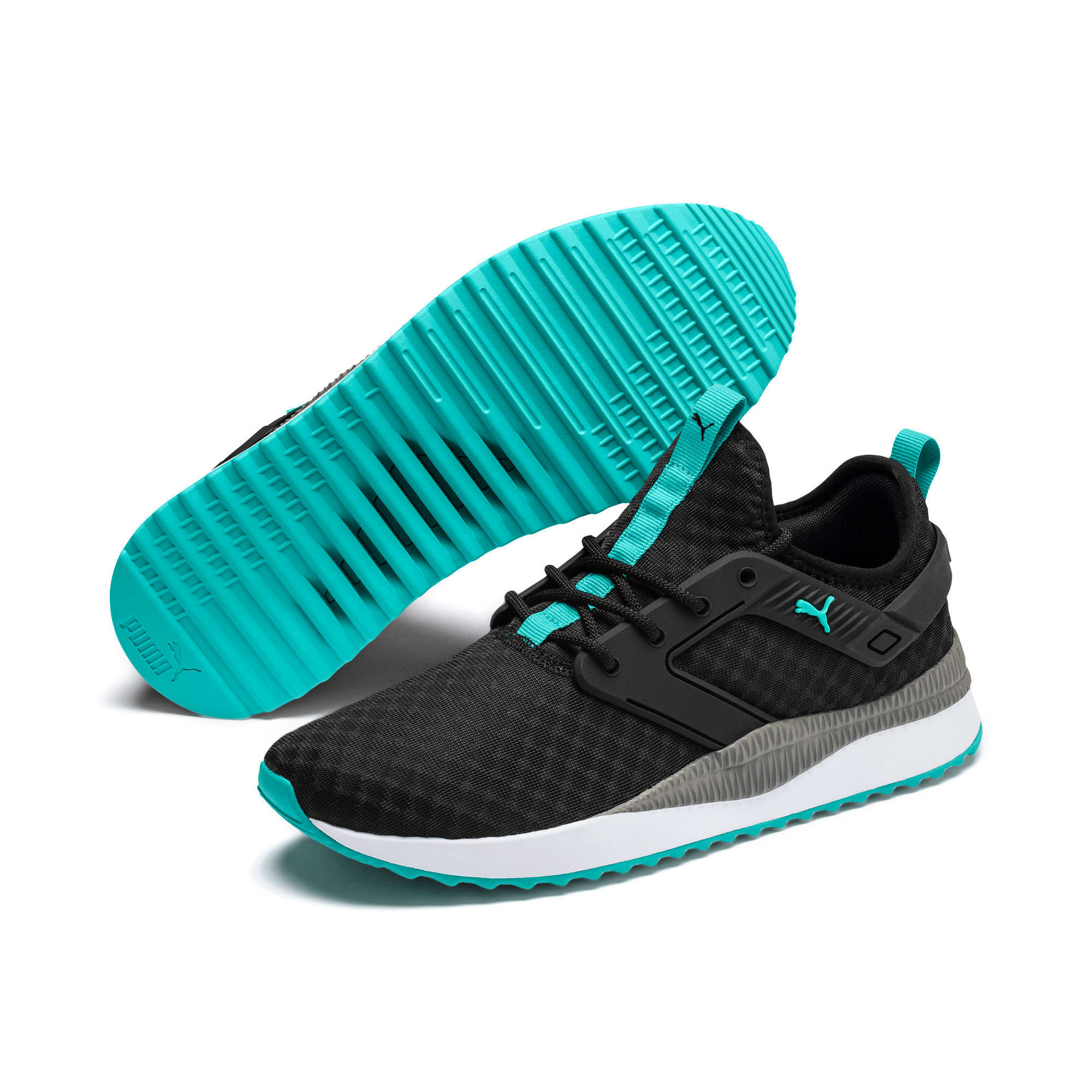 Thumbnail 3 of Pacer Next Excel Running Shoes, Puma Black-Blue Turquoise, medium