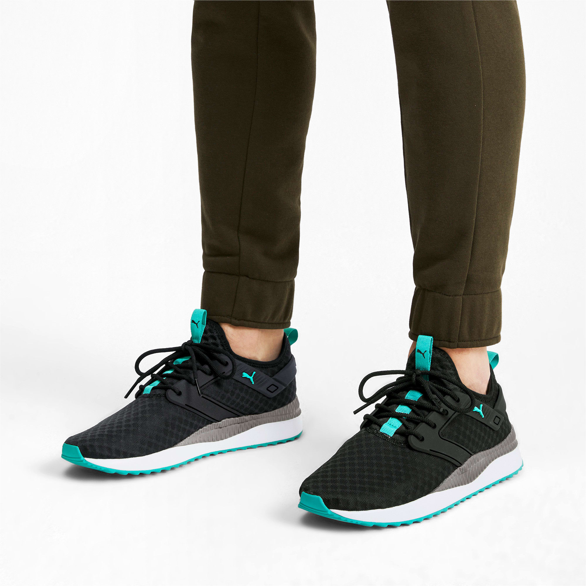 Thumbnail 2 of Pacer Next Excel Running Shoes, Puma Black-Blue Turquoise, medium