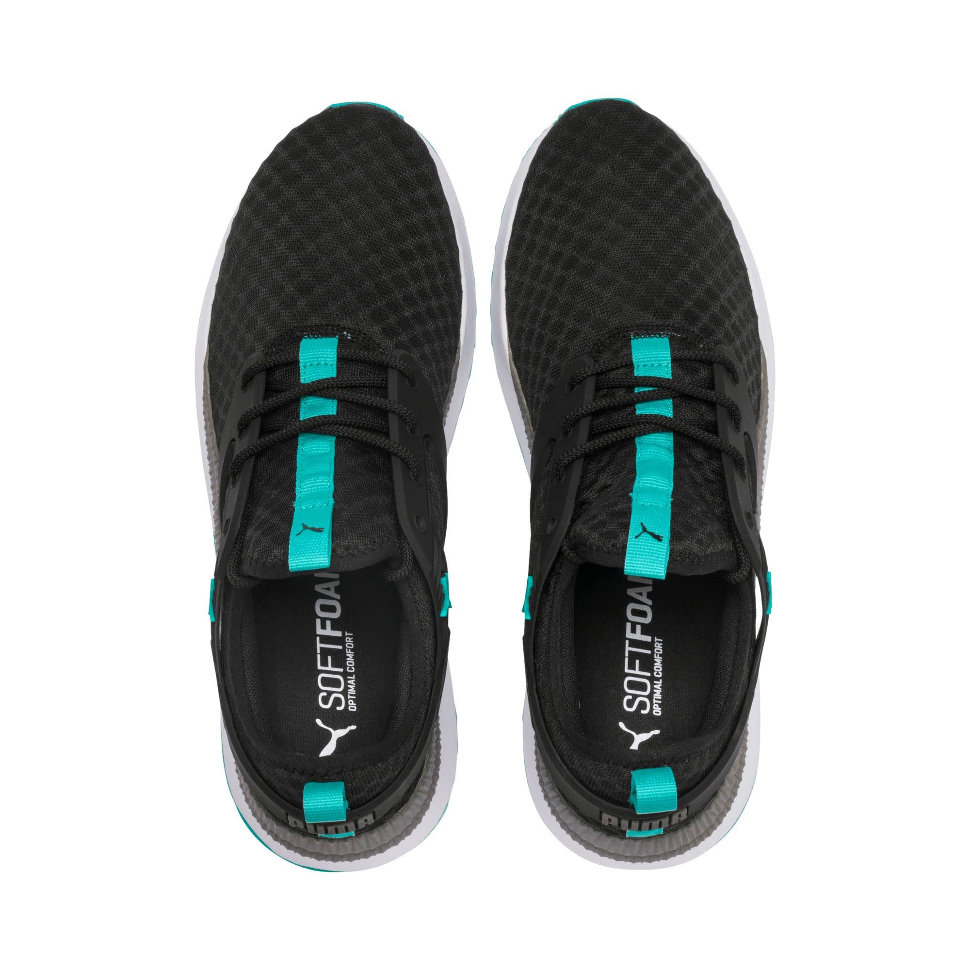 Thumbnail 7 of Pacer Next Excel Running Shoes, Puma Black-Blue Turquoise, medium