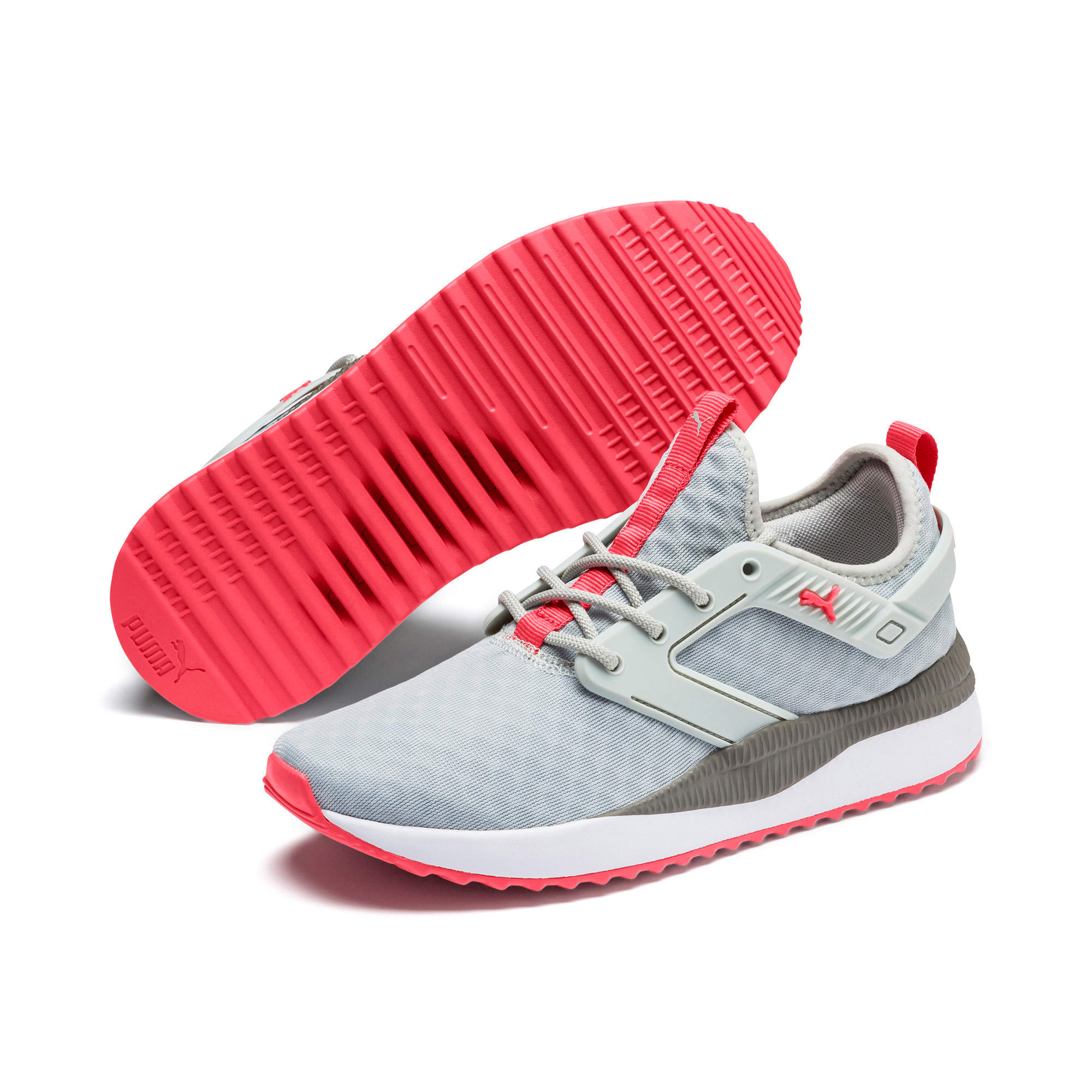 Thumbnail 3 of Pacer Next Excel Running Shoes, Gray Violet-Calypso Coral, medium