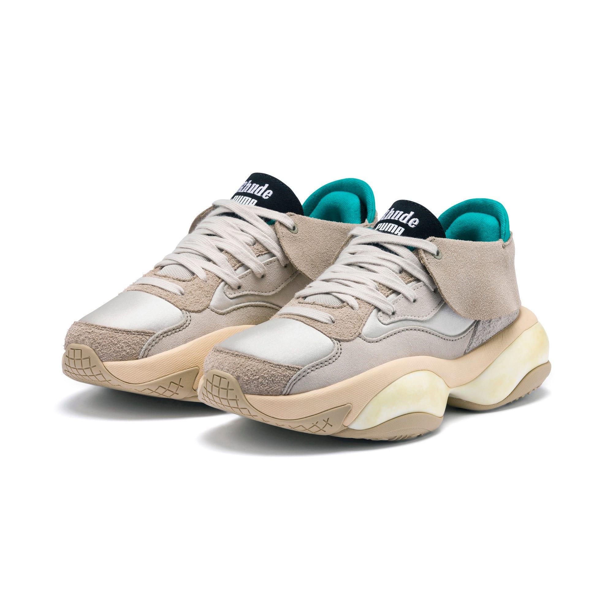 Thumbnail 2 of PUMA x RHUDE Alteration Sneakers, Chinchilla-Whisper White, medium