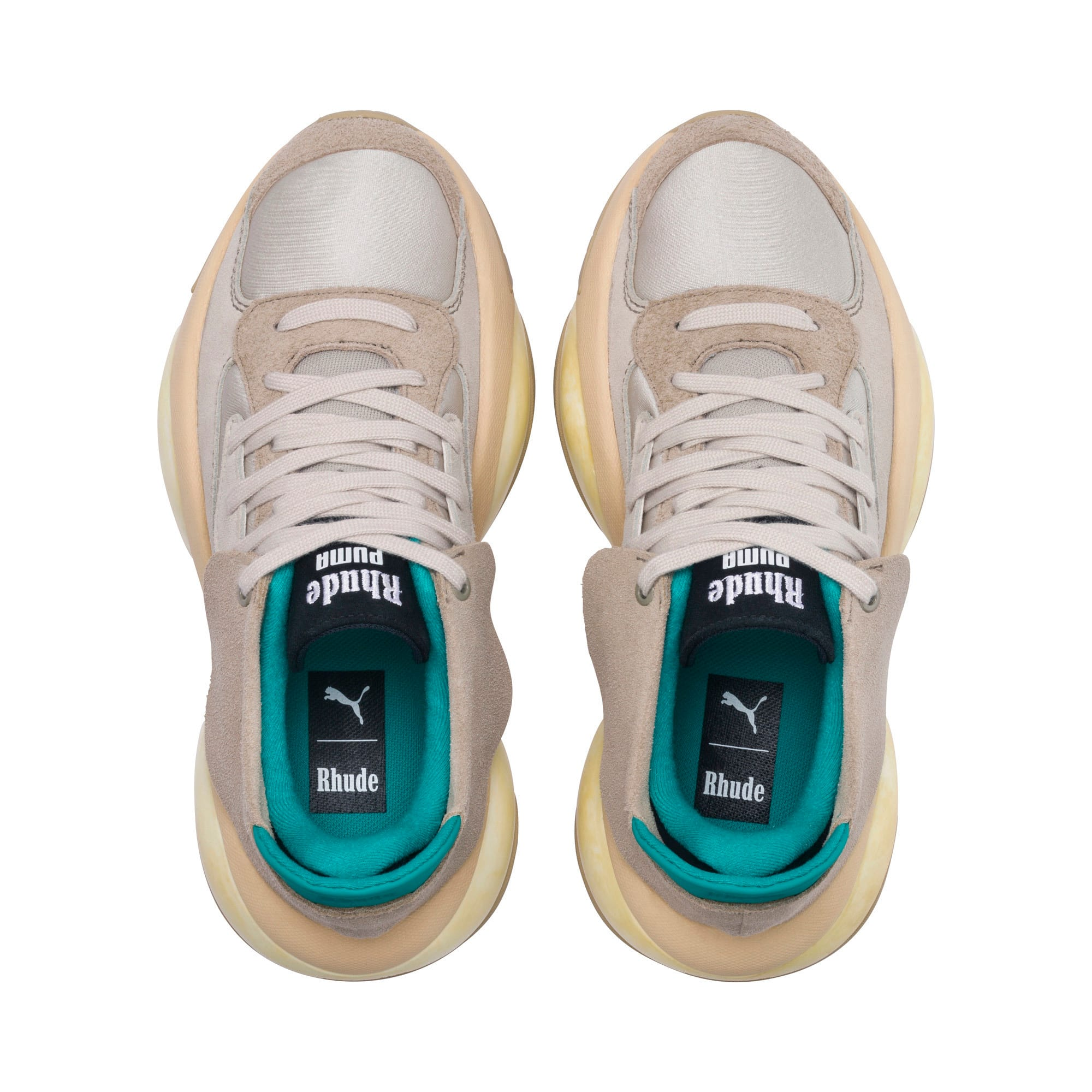 Thumbnail 6 of PUMA x RHUDE Alteration Sneakers, Chinchilla-Whisper White, medium