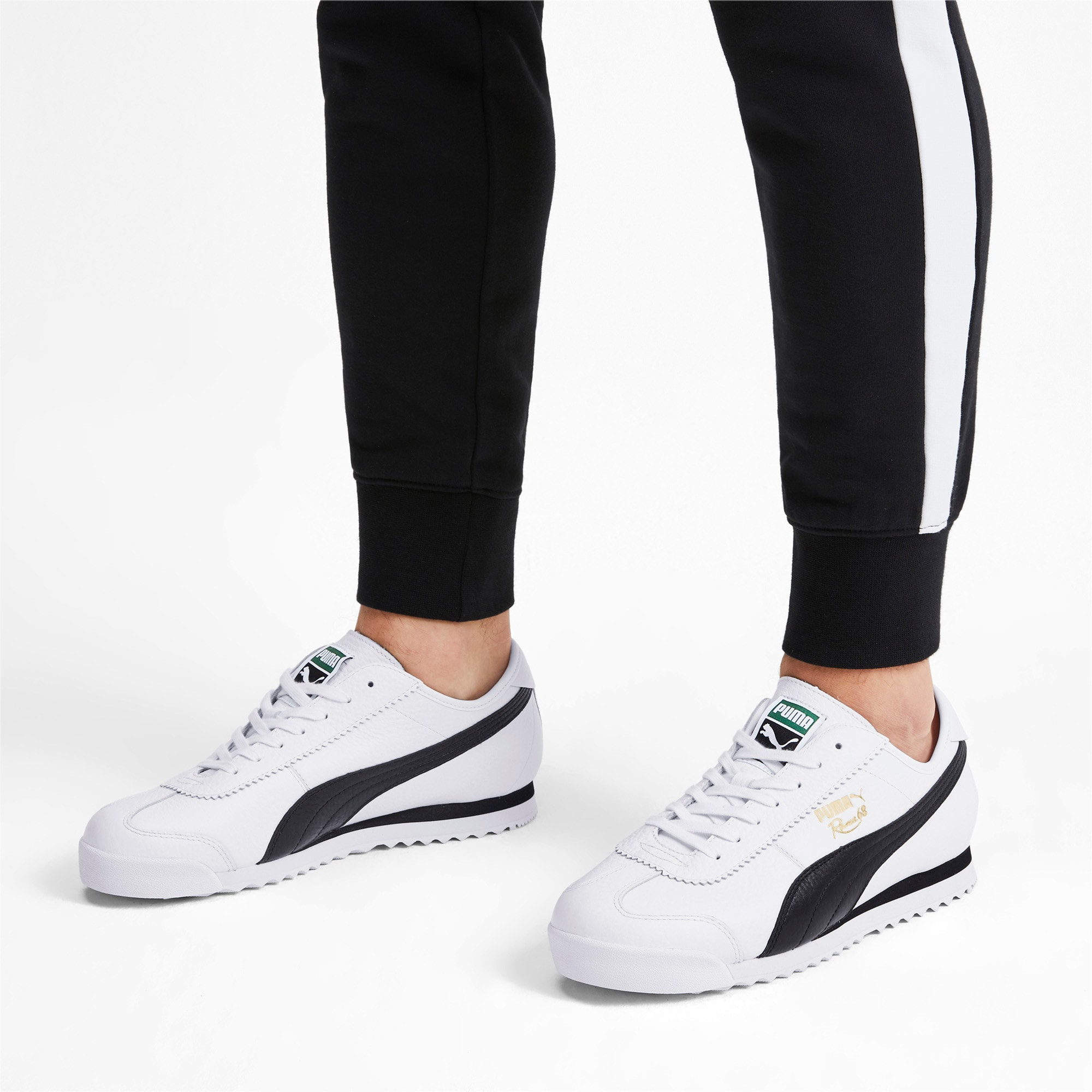 Thumbnail 2 of Roma '68 Vintage Sneakers, Puma White-Puma Black, medium