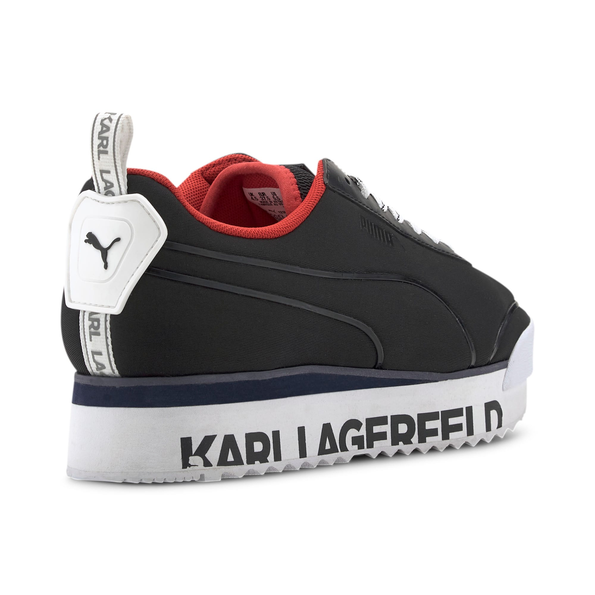 Thumbnail 9 of PUMA x KARL LAGERFELD Roma Amor Women's Trainers, Puma Black-Puma Black, medium