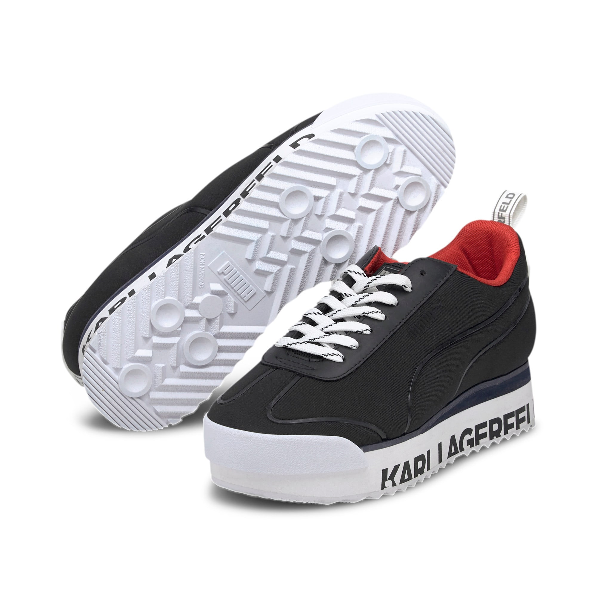 Thumbnail 3 of PUMA x KARL LAGERFELD Roma Amor Women's Trainers, Puma Black-Puma Black, medium