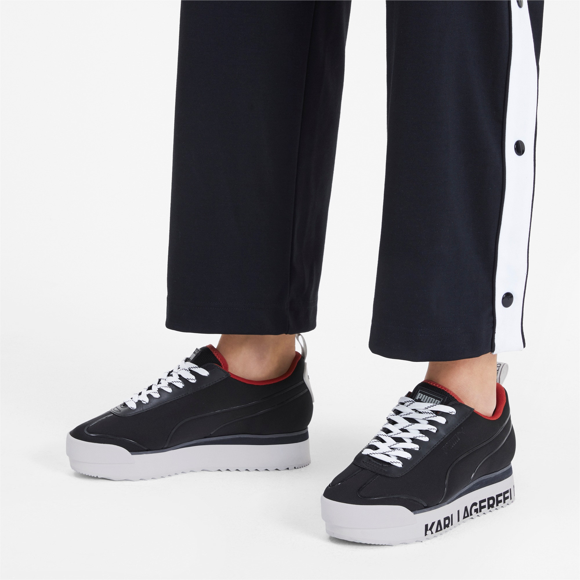 Thumbnail 2 of PUMA x KARL LAGERFELD Roma Amor Women's Sneakers, Puma Black-Puma Black, medium