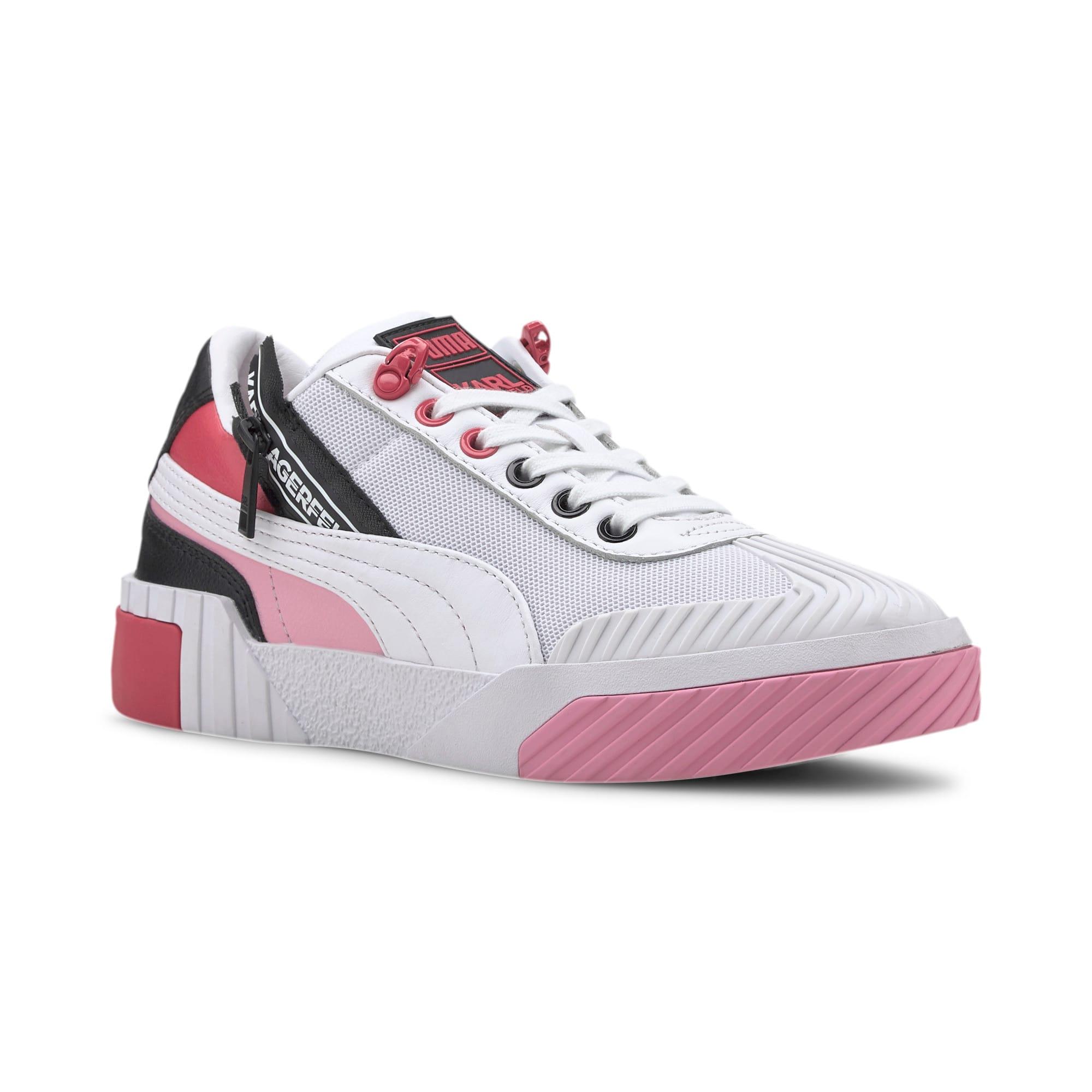Thumbnail 9 of PUMA x KARL LAGERFELD Cali Women's Training Shoes, Puma White-PRISM PINK, medium
