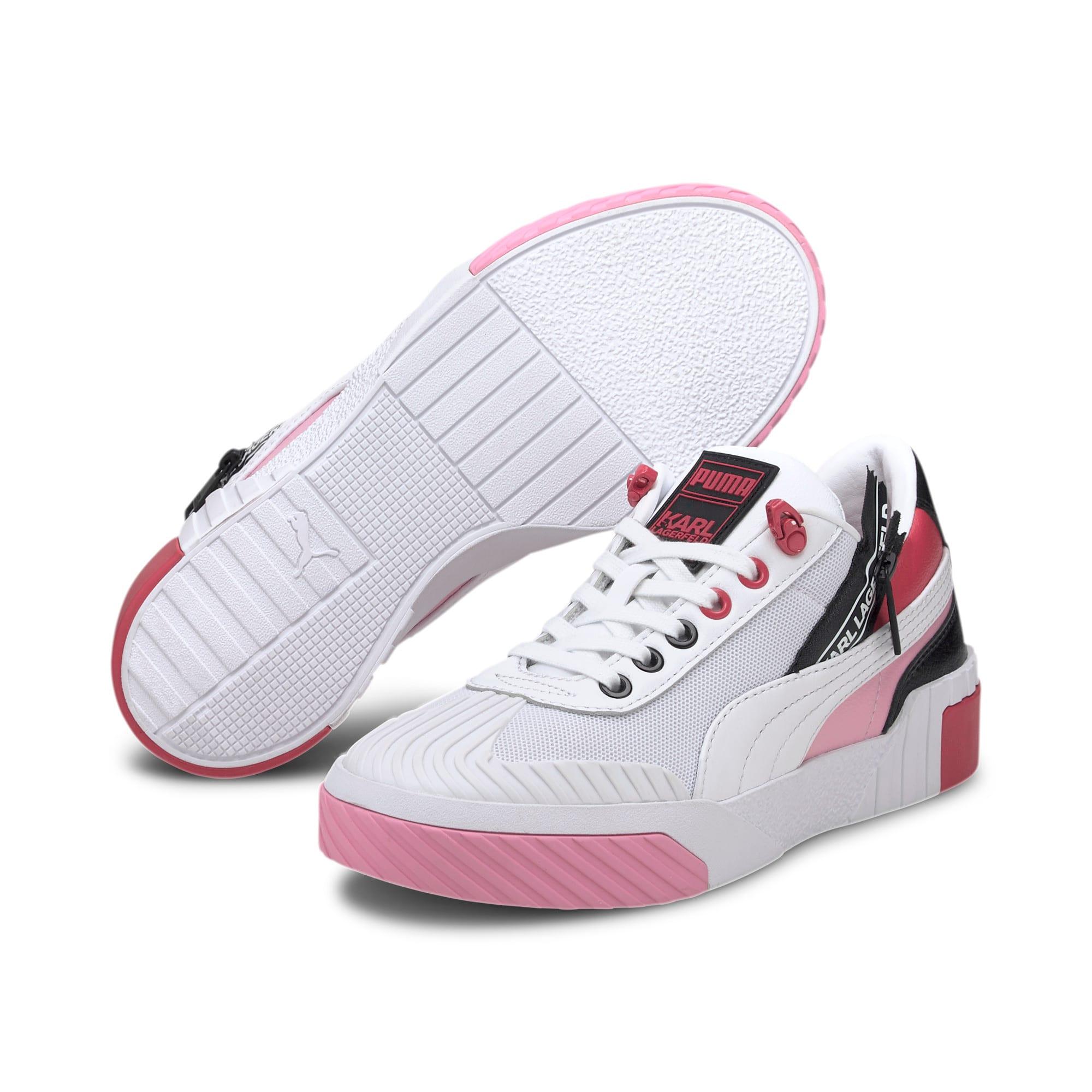 Thumbnail 3 of PUMA x KARL LAGERFELD Cali Women's Training Shoes, Puma White-PRISM PINK, medium