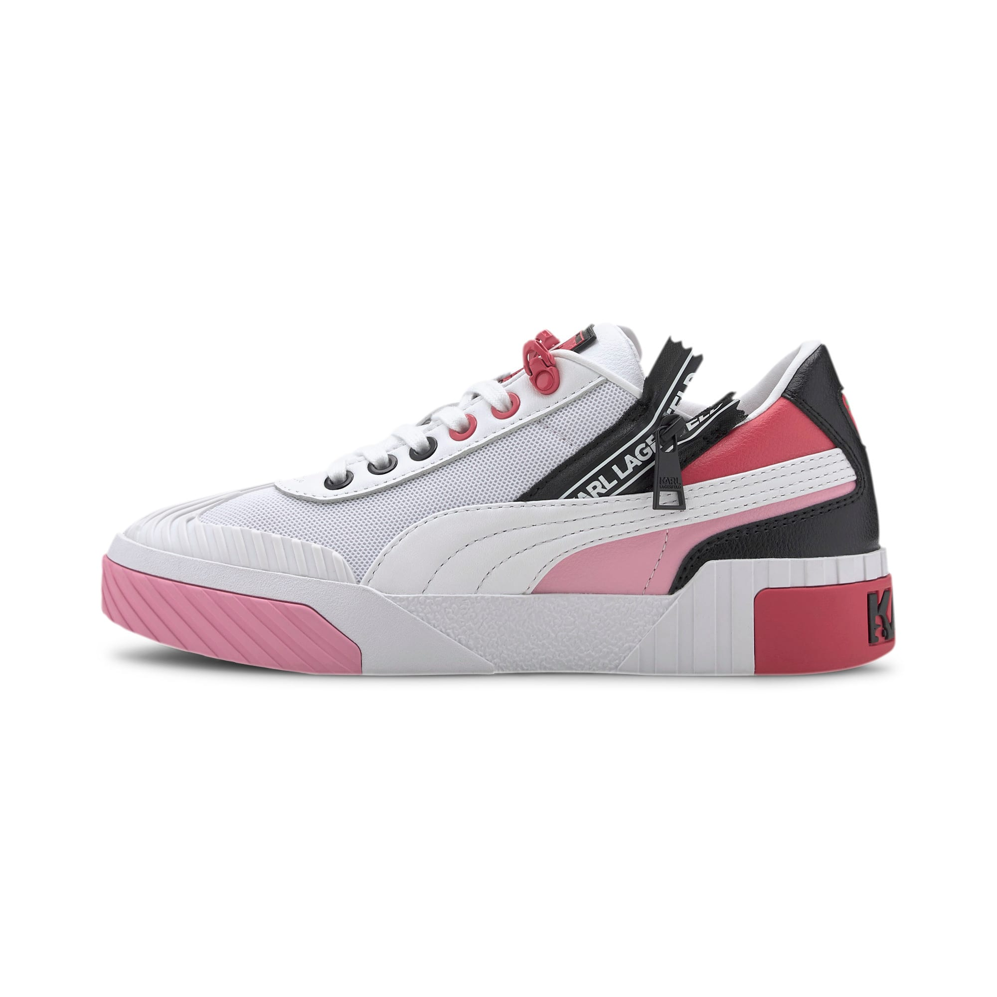 Thumbnail 1 of PUMA x KARL LAGERFELD Cali Women's Training Shoes, Puma White-PRISM PINK, medium