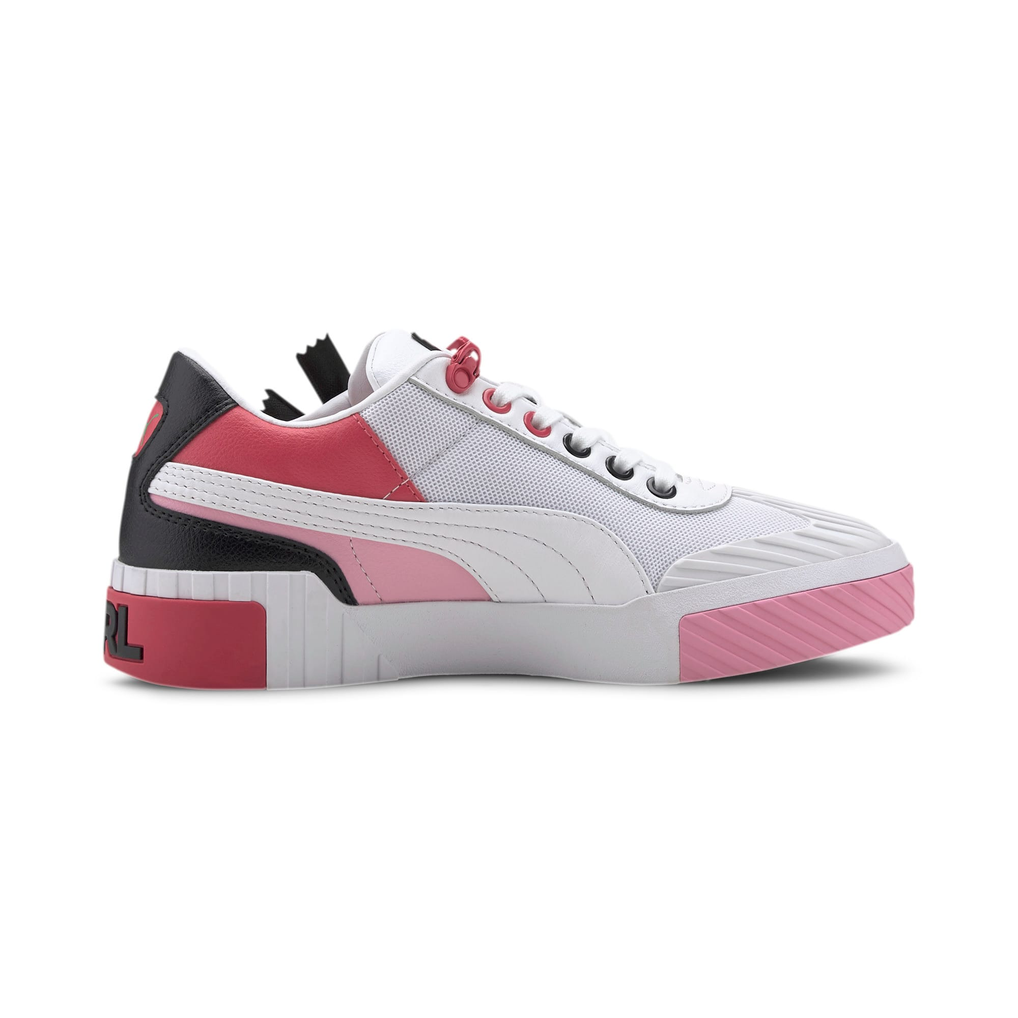 Thumbnail 6 of PUMA x KARL LAGERFELD Cali Women's Training Shoes, Puma White-PRISM PINK, medium