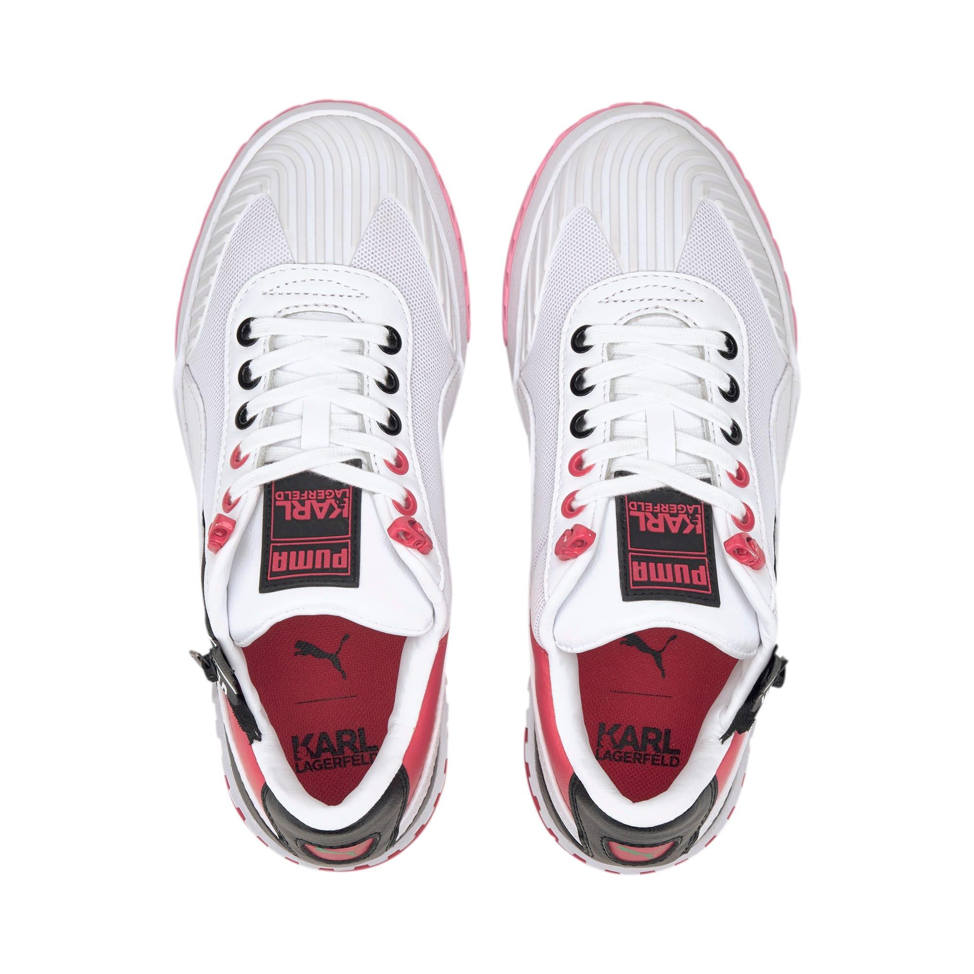 Thumbnail 7 of PUMA x KARL LAGERFELD Cali Women's Training Shoes, Puma White-PRISM PINK, medium