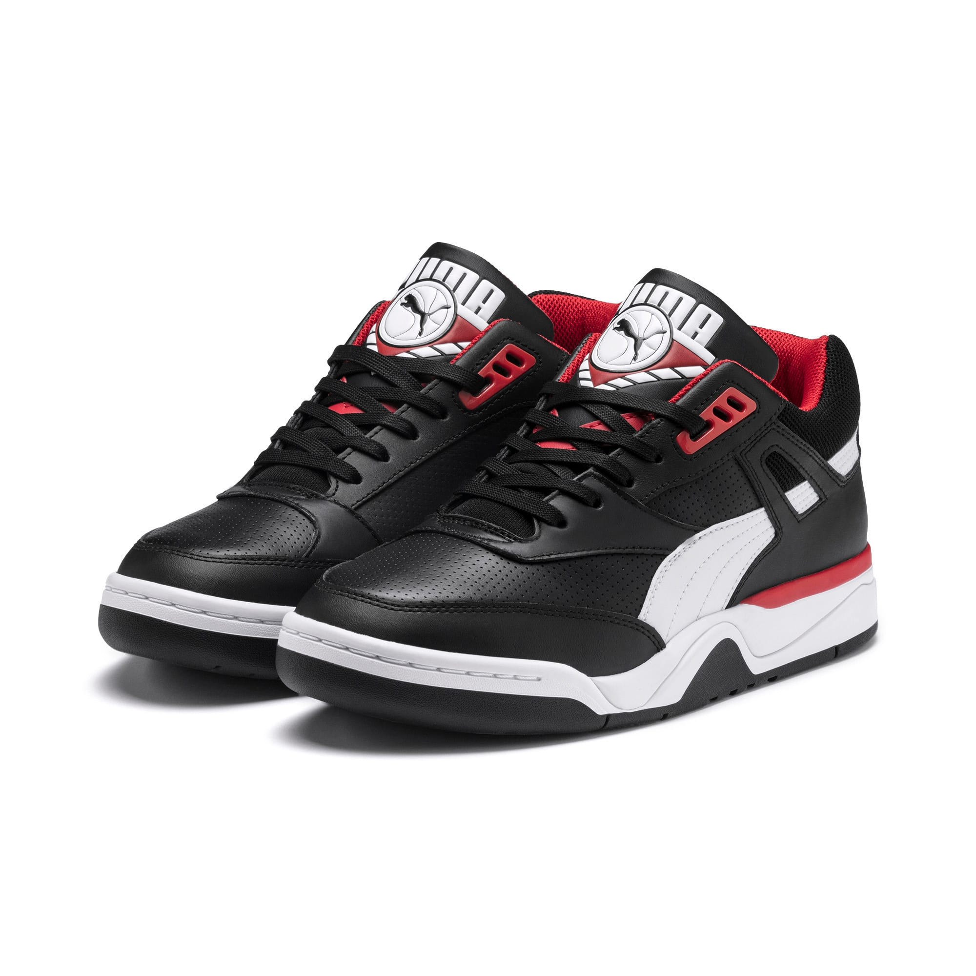 Thumbnail 2 of Palace Guard Men's Basketball Trainers, Puma Black-Puma White-red, medium