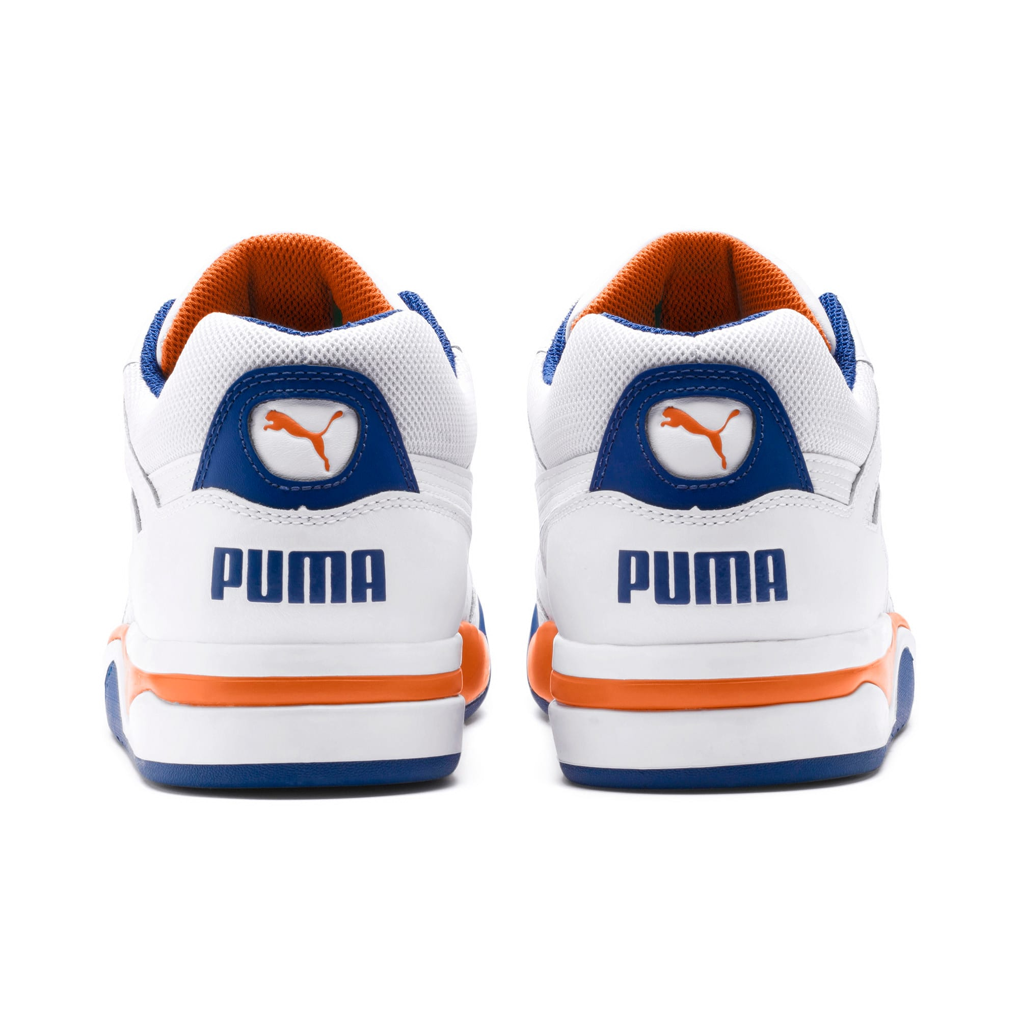 Thumbnail 3 of Palace Guard Men's Basketball Trainers, P White-Jaffa Orange-G Blue, medium-IND
