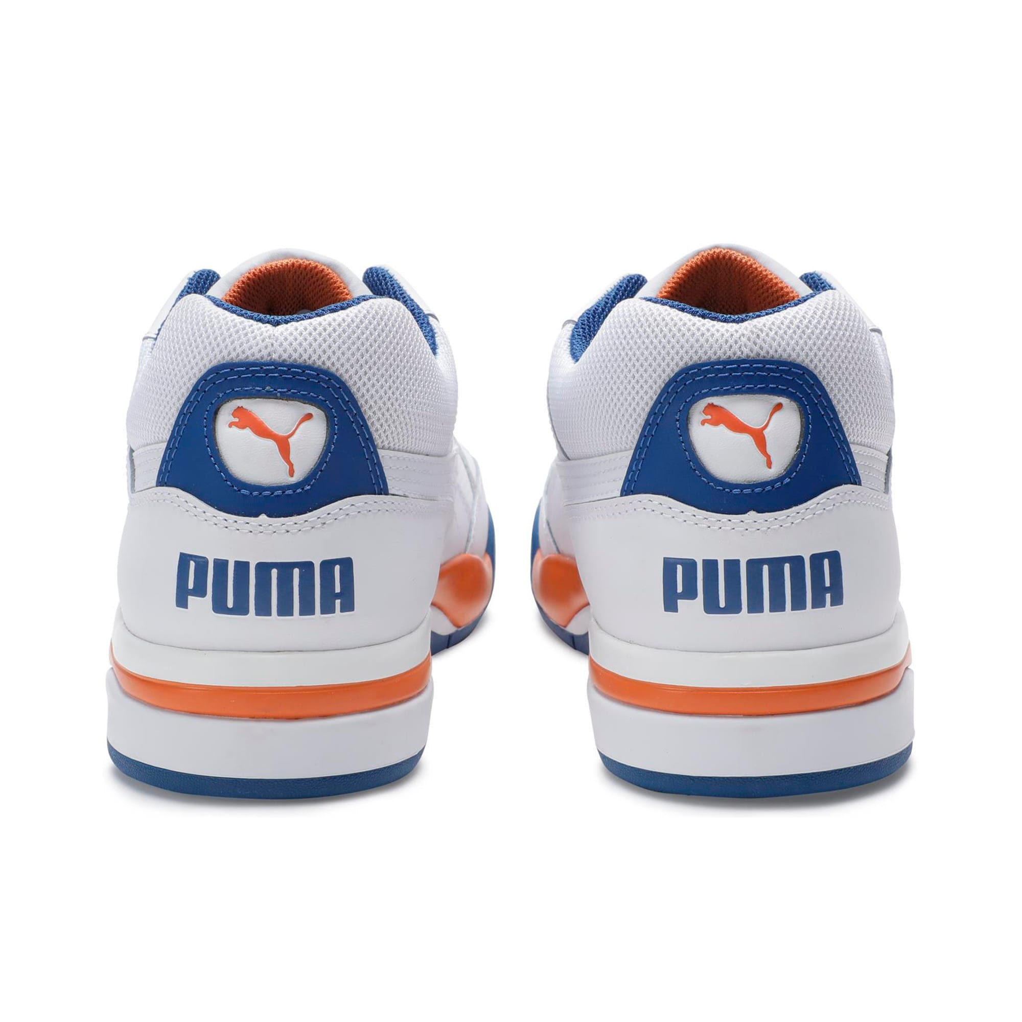 Thumbnail 2 of Palace Guard Men's Basketball Trainers, P White-Jaffa Orange-G Blue, medium-IND
