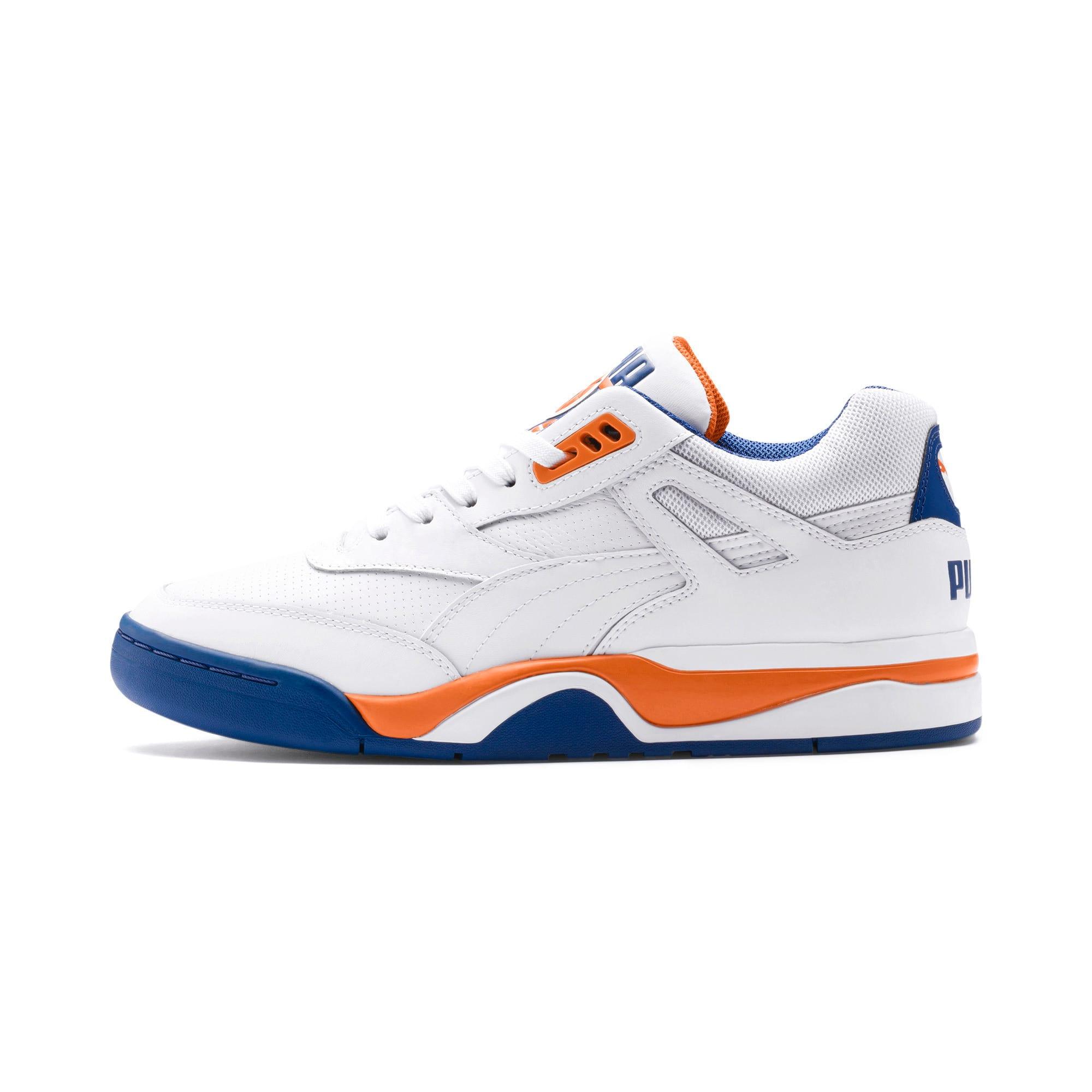 Thumbnail 1 of Palace Guard basketbalschoenen voor heren, P White-Jaffa Orange-G Blue, medium