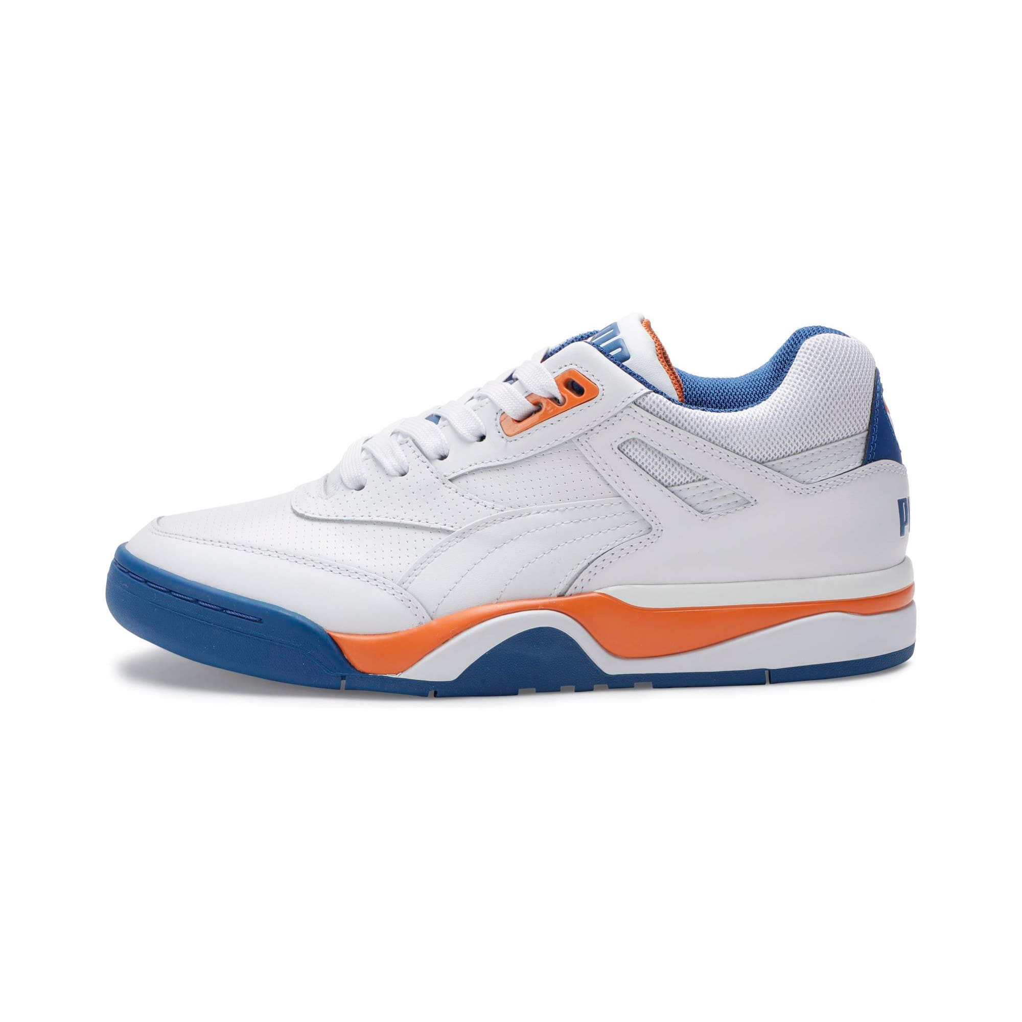Thumbnail 1 of Palace Guard Men's Basketball Trainers, P White-Jaffa Orange-G Blue, medium-IND