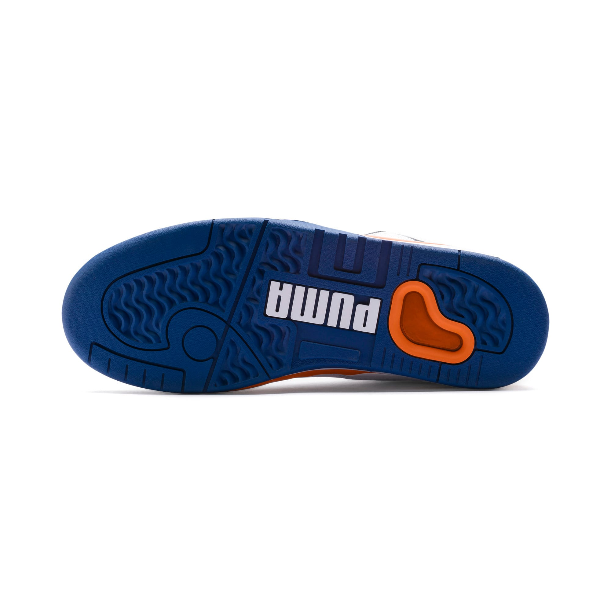Thumbnail 4 of Palace Guard basketbalschoenen voor heren, P White-Jaffa Orange-G Blue, medium