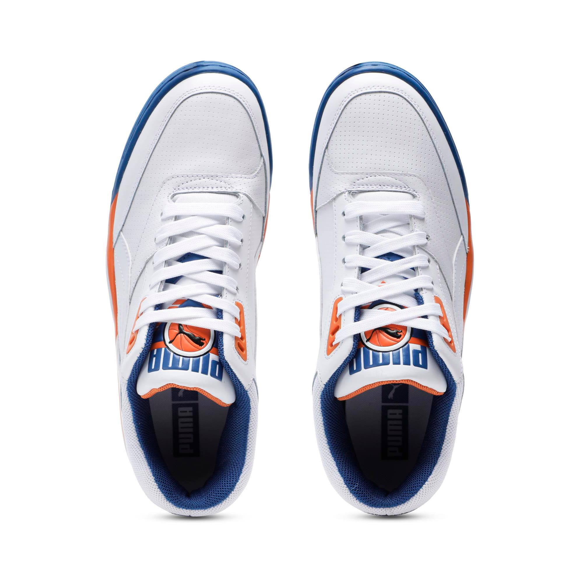 Thumbnail 4 of Palace Guard Men's Basketball Trainers, P White-Jaffa Orange-G Blue, medium-IND