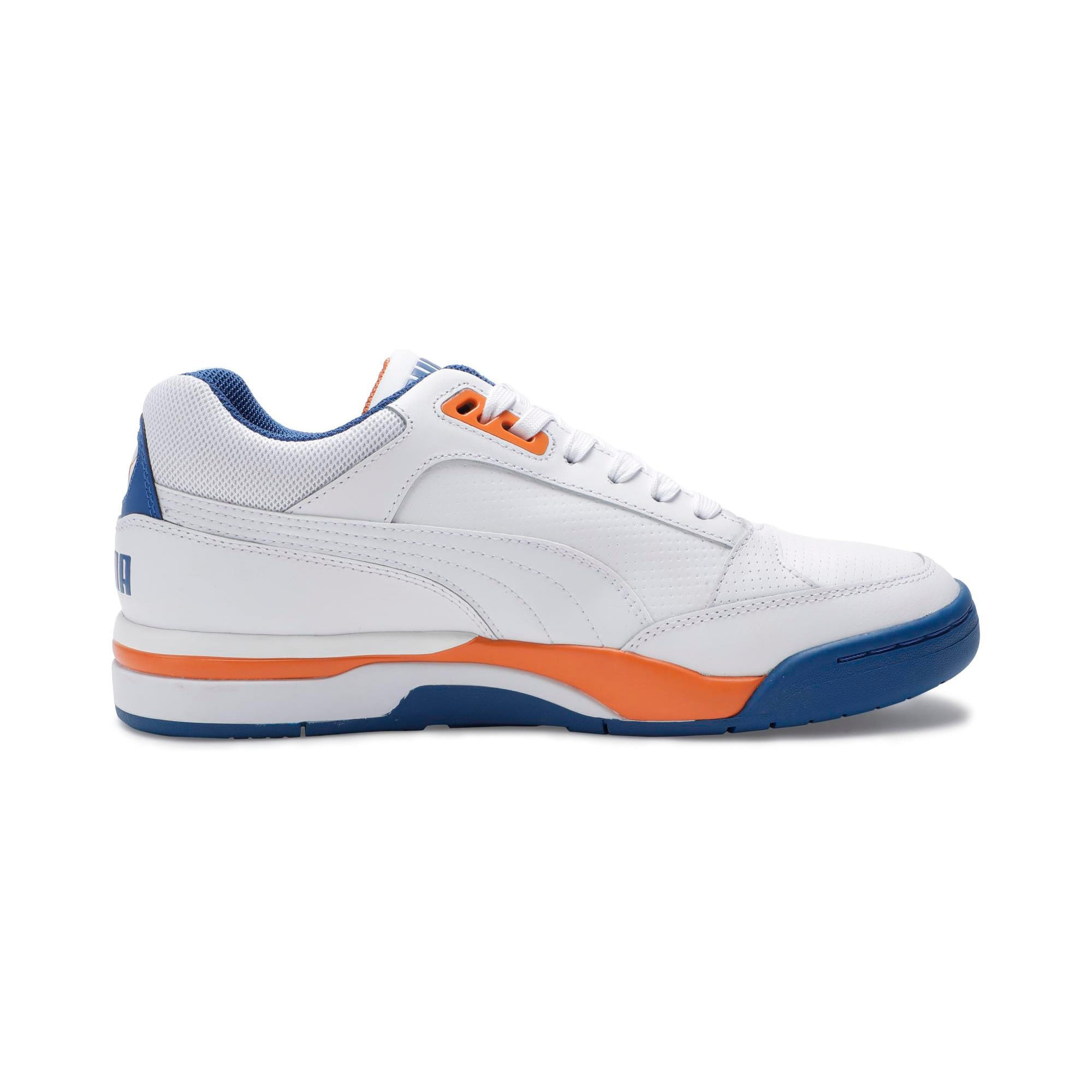 Thumbnail 5 of Palace Guard Men's Basketball Trainers, P White-Jaffa Orange-G Blue, medium-IND
