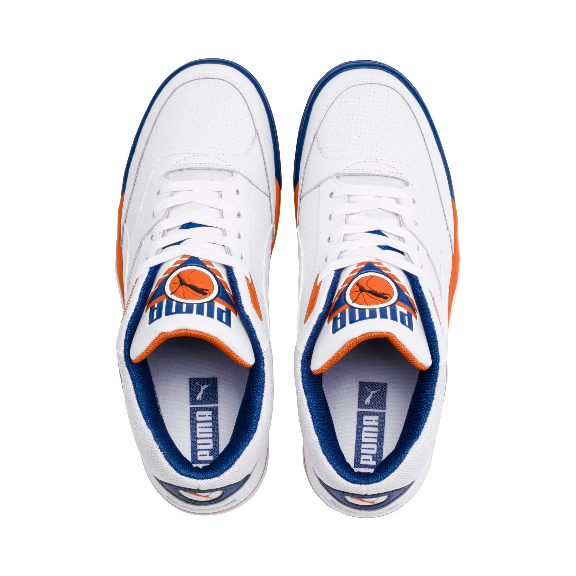 Thumbnail 6 of Palace Guard Men's Basketball Trainers, P White-Jaffa Orange-G Blue, medium-IND