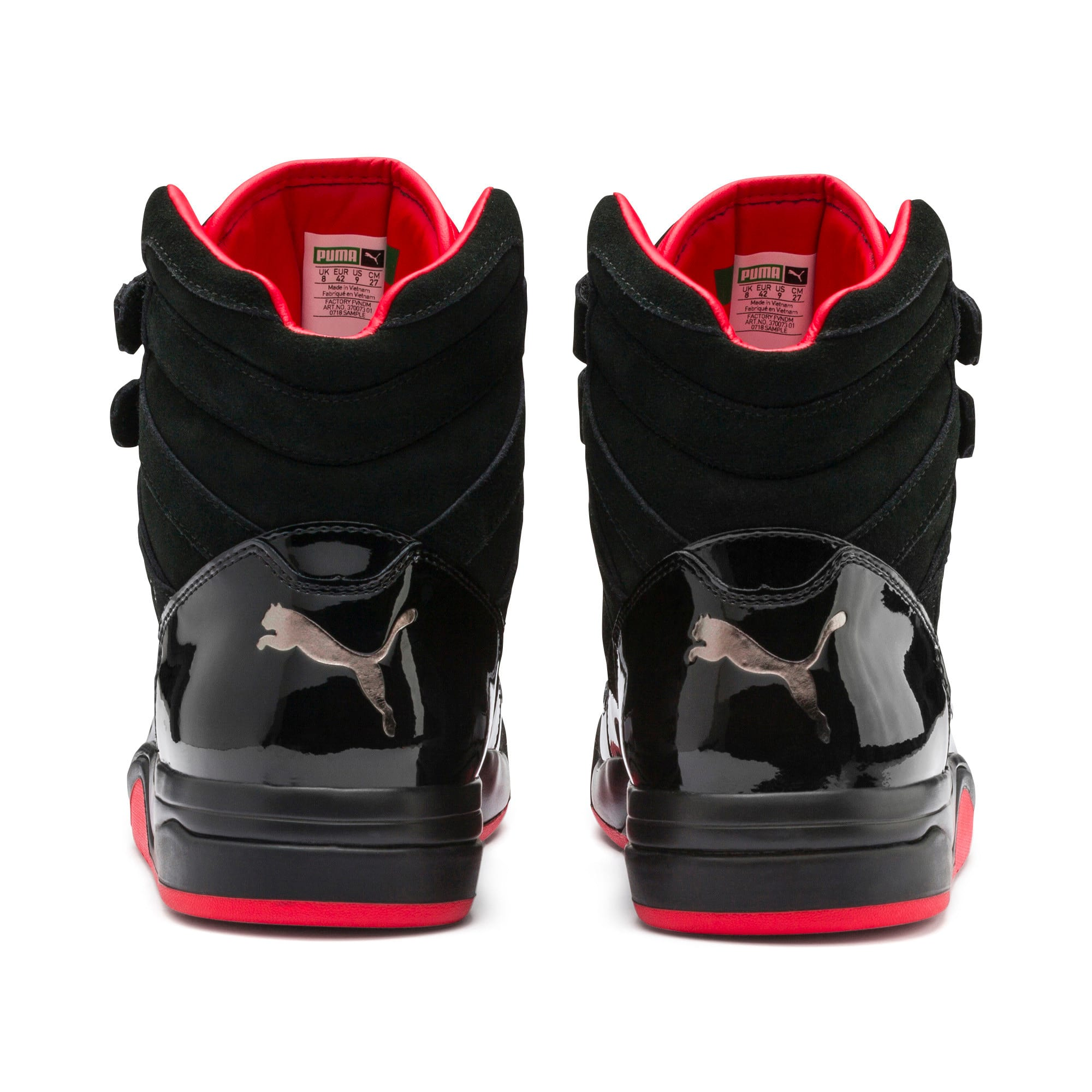 Thumbnail 4 of Palace Guard Red Carpet Mid-Cut Basketball Shoes, Puma Black-Risk Red-Bronze, medium