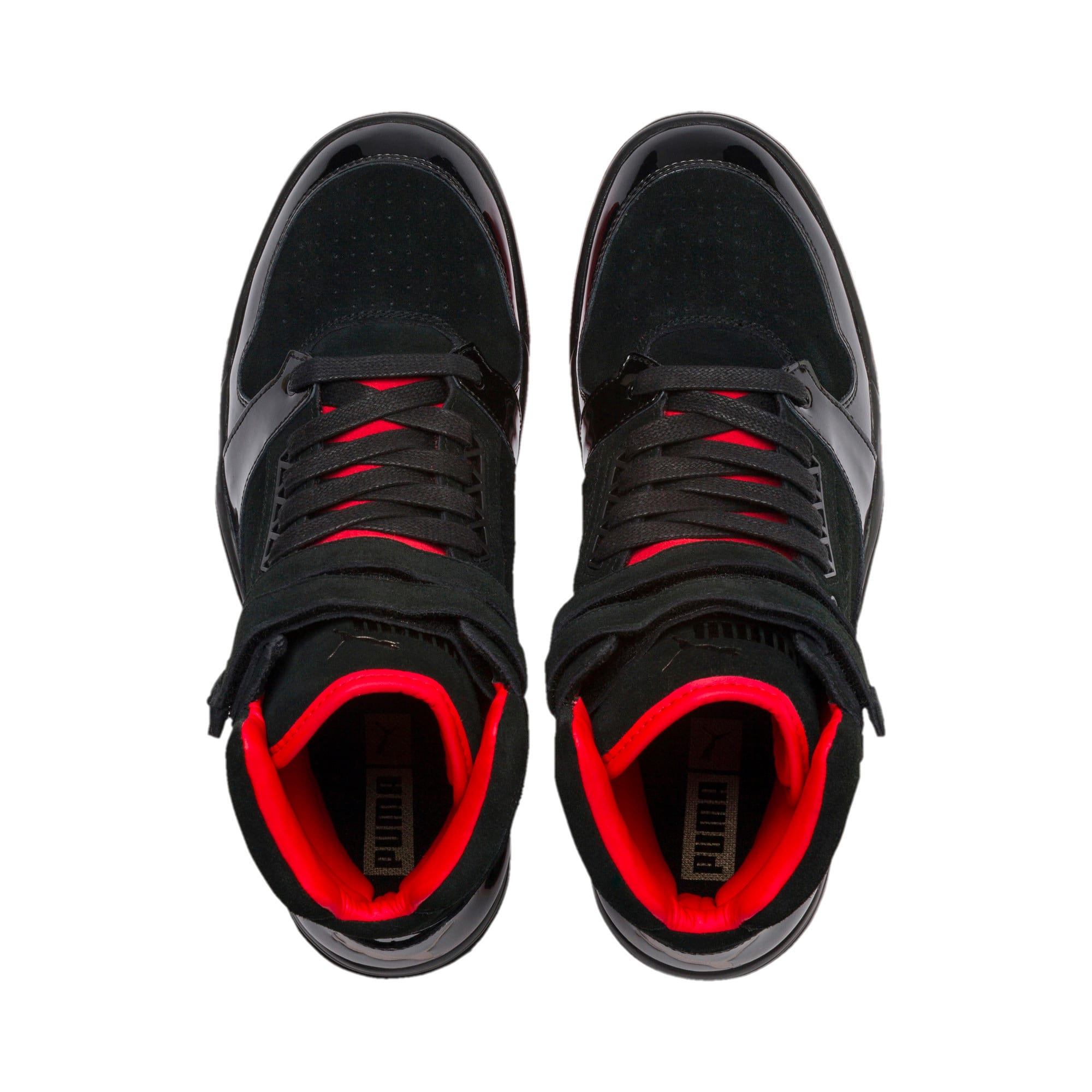Thumbnail 4 of Palace Guard Red Carpet Mid-Cut Basketball Shoes, Puma Black-Risk Red-Bronze, medium-IND