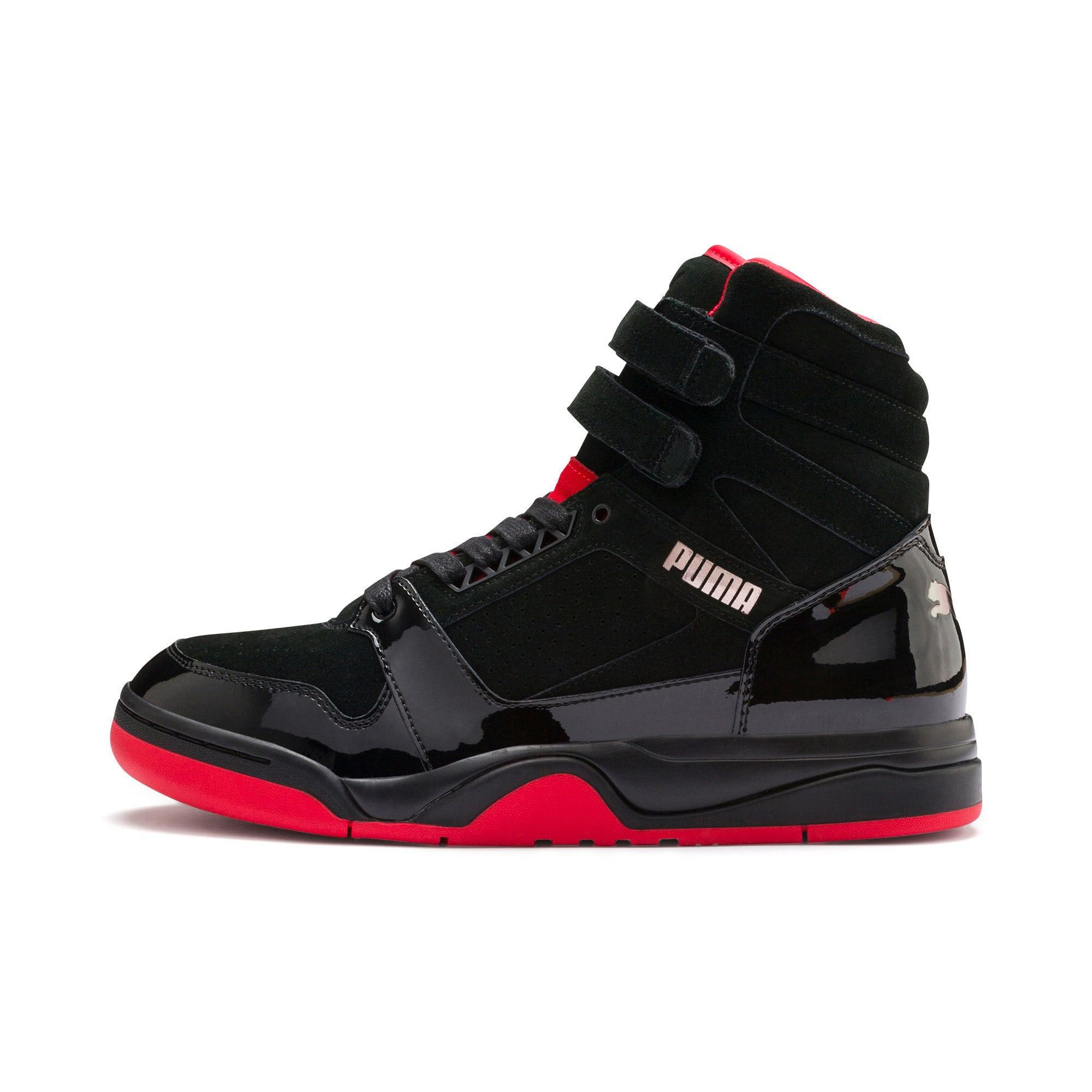 Thumbnail 1 of Palace Guard Red Carpet Mid-Cut Basketball Shoes, Puma Black-Risk Red-Bronze, medium-IND
