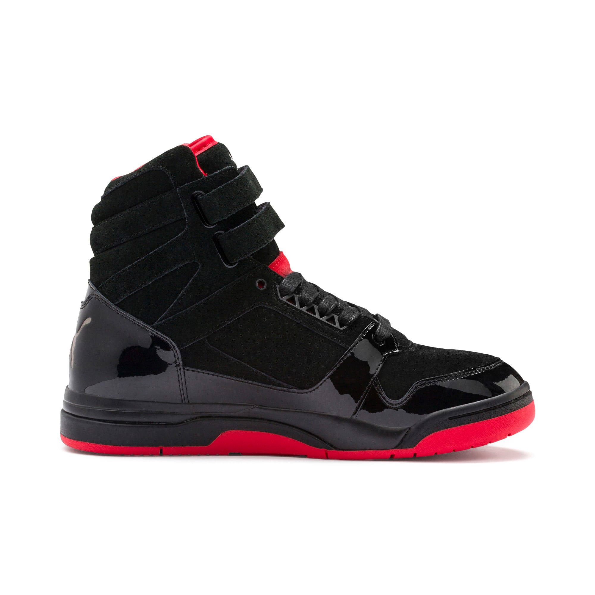 Thumbnail 7 of Palace Guard Red Carpet Mid-Cut Basketball Shoes, Puma Black-Risk Red-Bronze, medium-IND