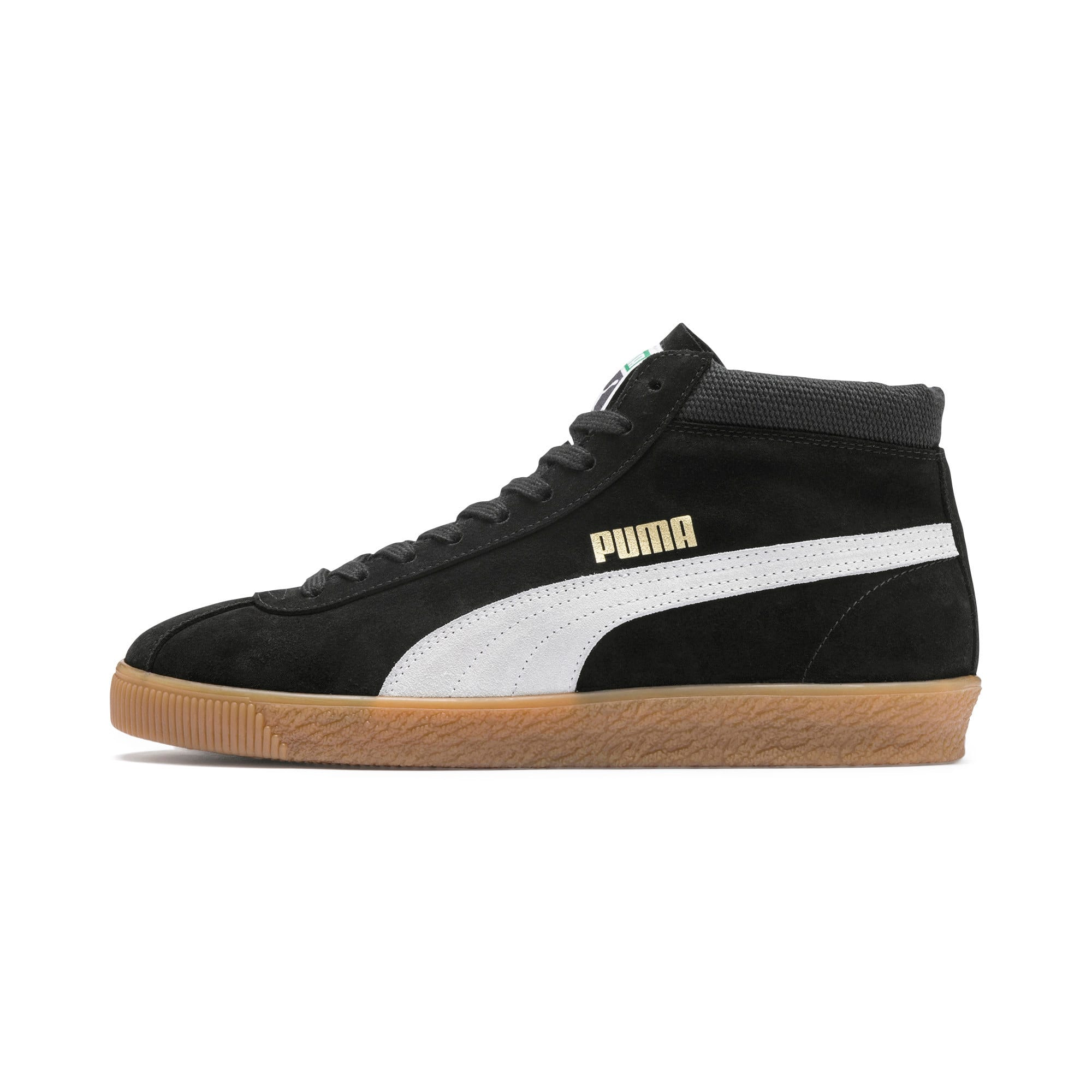 Thumbnail 1 of スウェード '68 ミッド スニーカー, Puma Black-Whisper White, medium-JPN