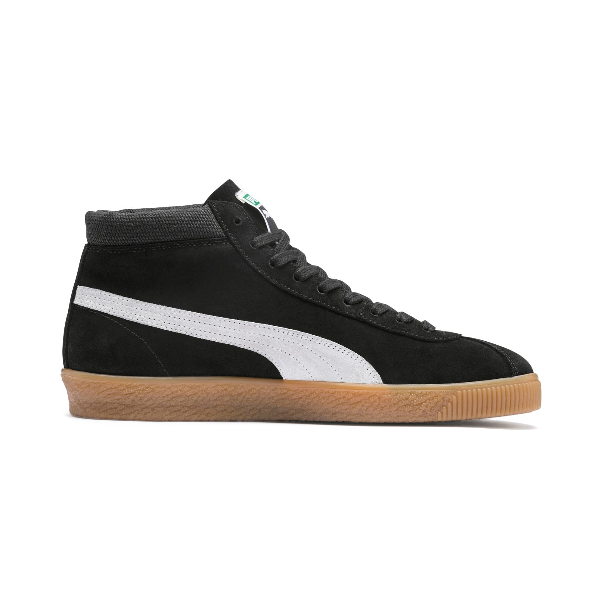 Thumbnail 6 of スウェード '68 ミッド スニーカー, Puma Black-Whisper White, medium-JPN