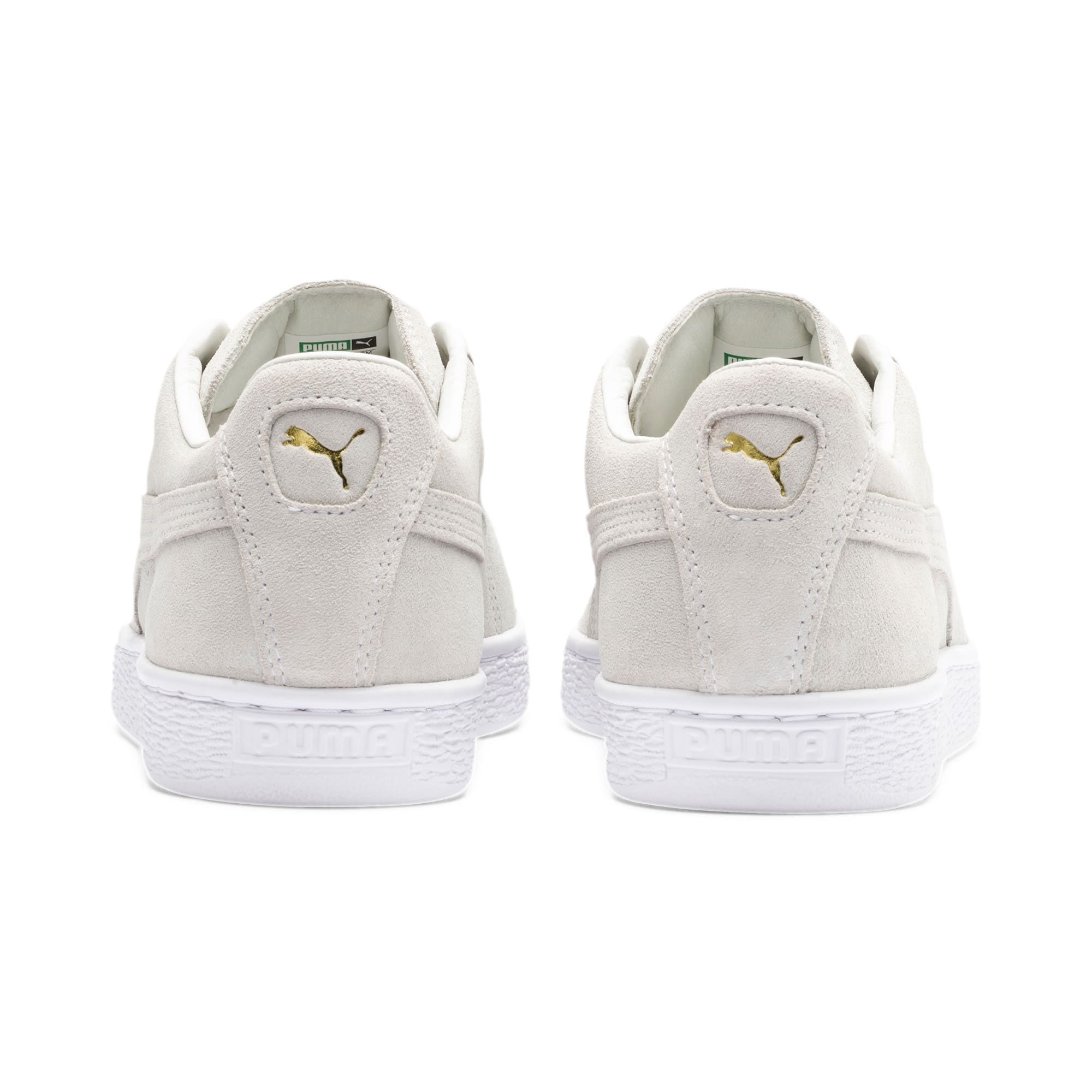 Thumbnail 4 of Suede Classic Metal Badge sportschoenen, Puma White-White-Team Gold, medium