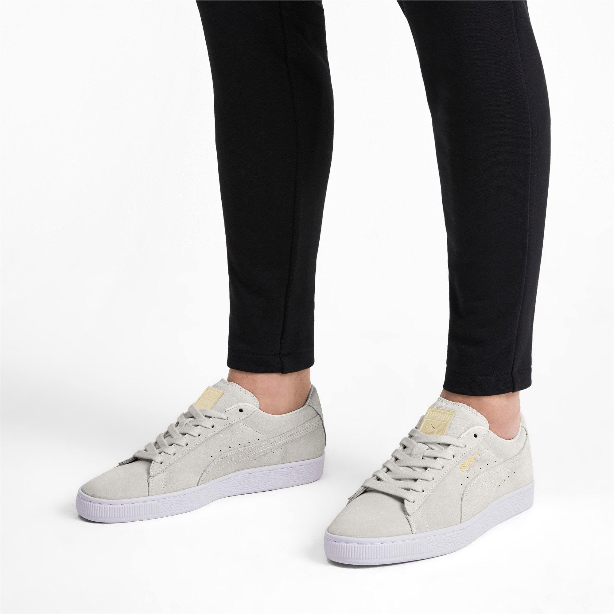 Miniatura 2 de Zapatos deportivos Suede Classic Metal Badge, Puma White-White-Team Gold, mediano