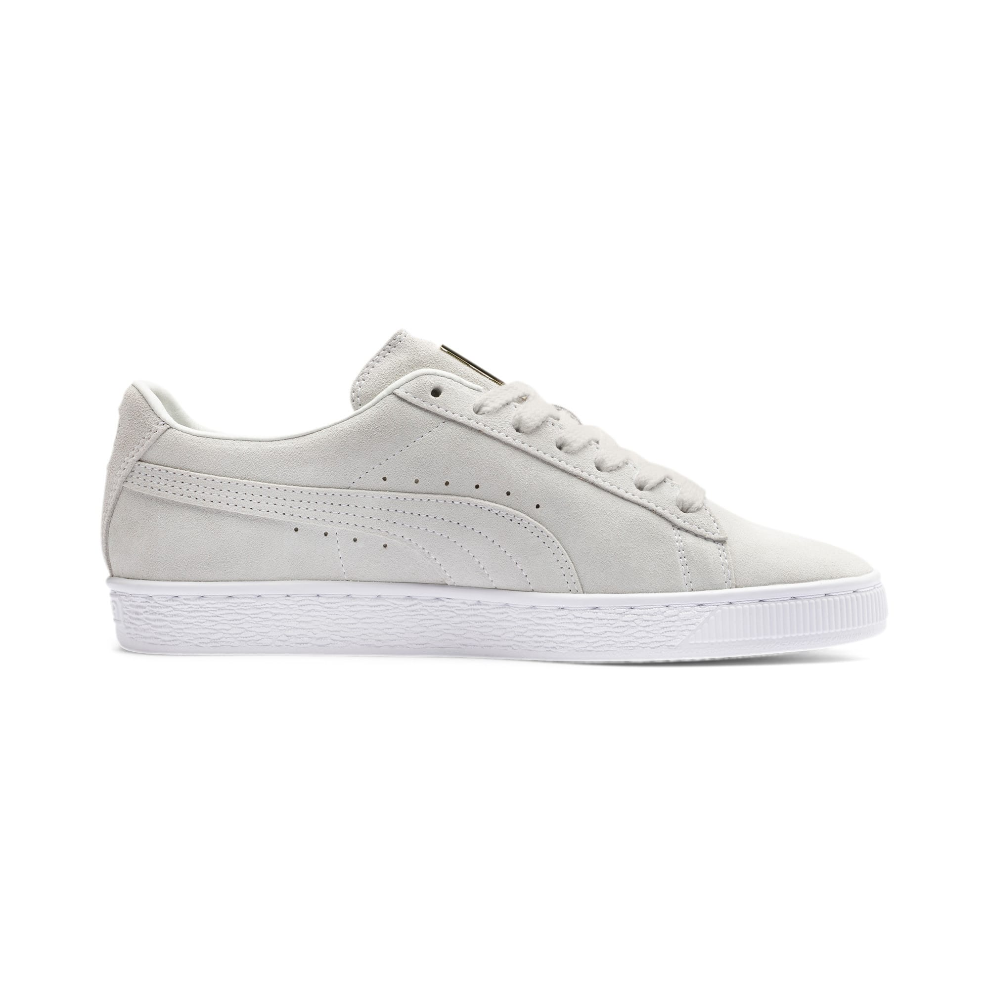 Thumbnail 6 of Suede Classic Metal Badge sportschoenen, Puma White-White-Team Gold, medium