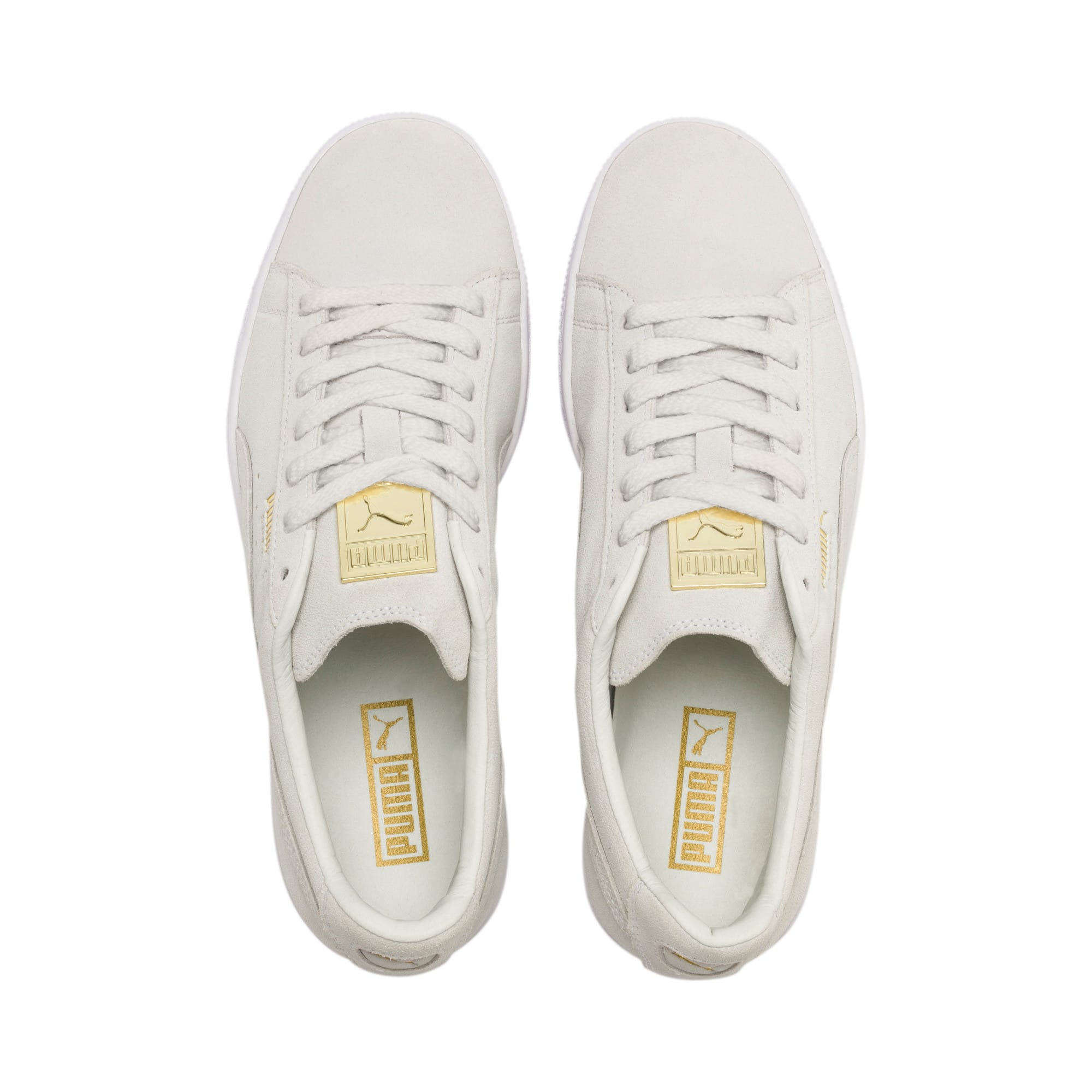 Thumbnail 7 of Suede Classic Metal Badge sportschoenen, Puma White-White-Team Gold, medium