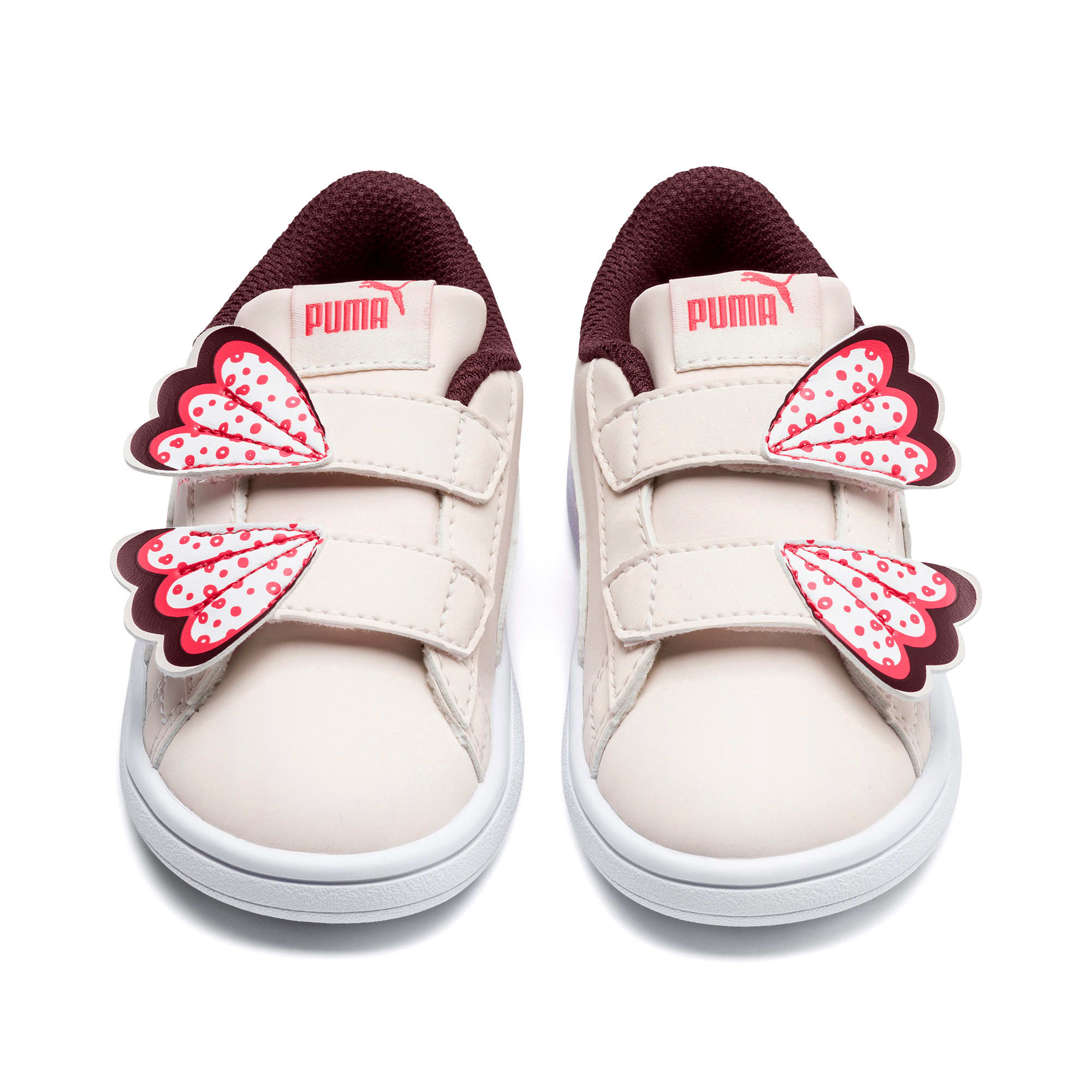 Thumbnail 7 of PUMA Smash v2 Butterfly Baby Girls' Trainers, Pastel Parchment-Vineyard, medium