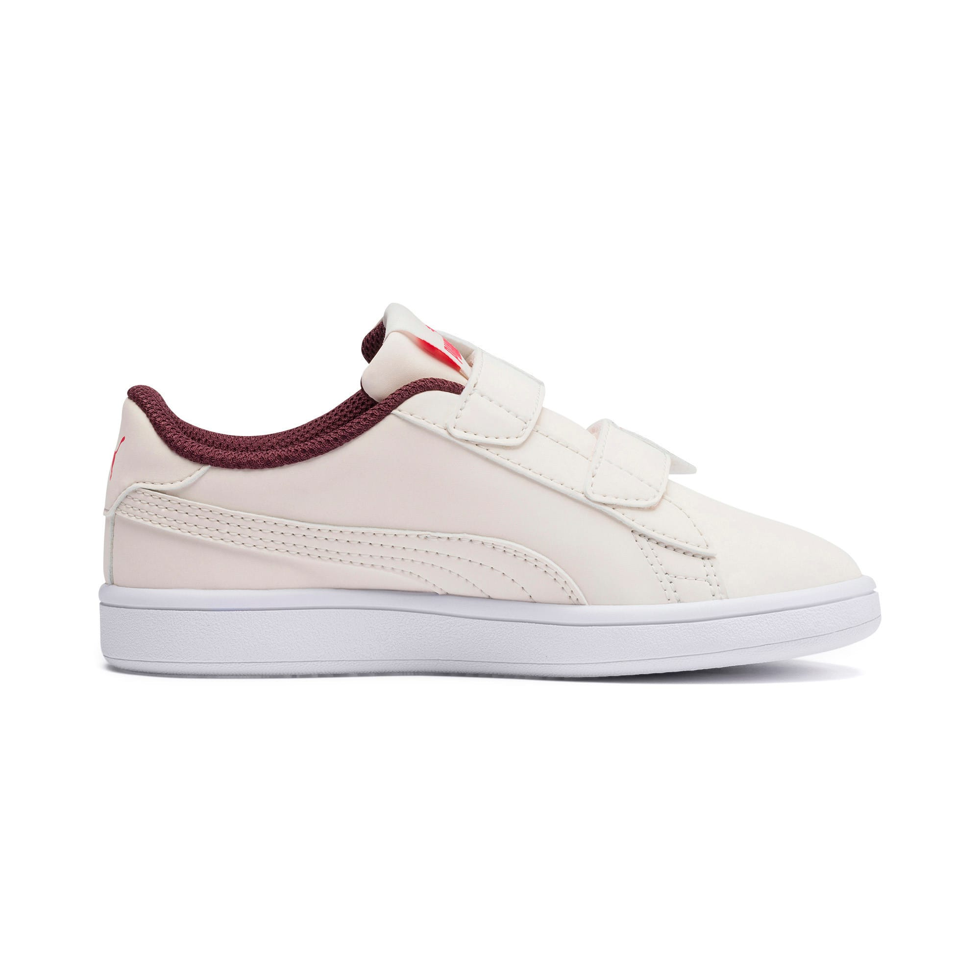 Thumbnail 5 of PUMA Smash v2 Butterfly Kid Girls' Trainers, Pastel Parchment-Vineyard, medium