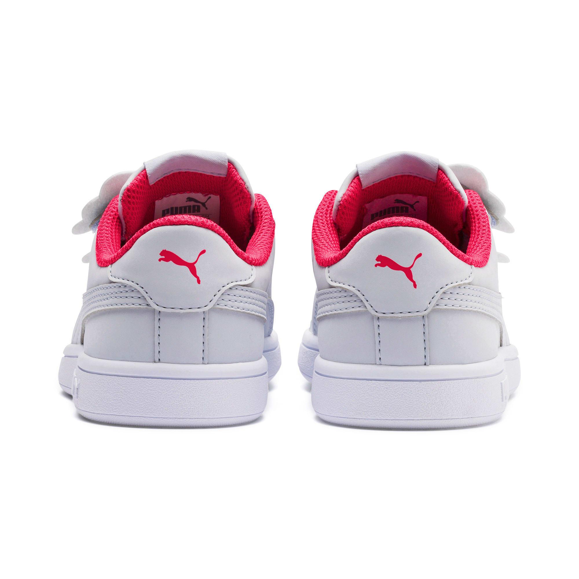 Thumbnail 3 of Puma Smash v2 Butterfly Little Kids' Shoes, Heather-Nrgy Rose-Puma White, medium