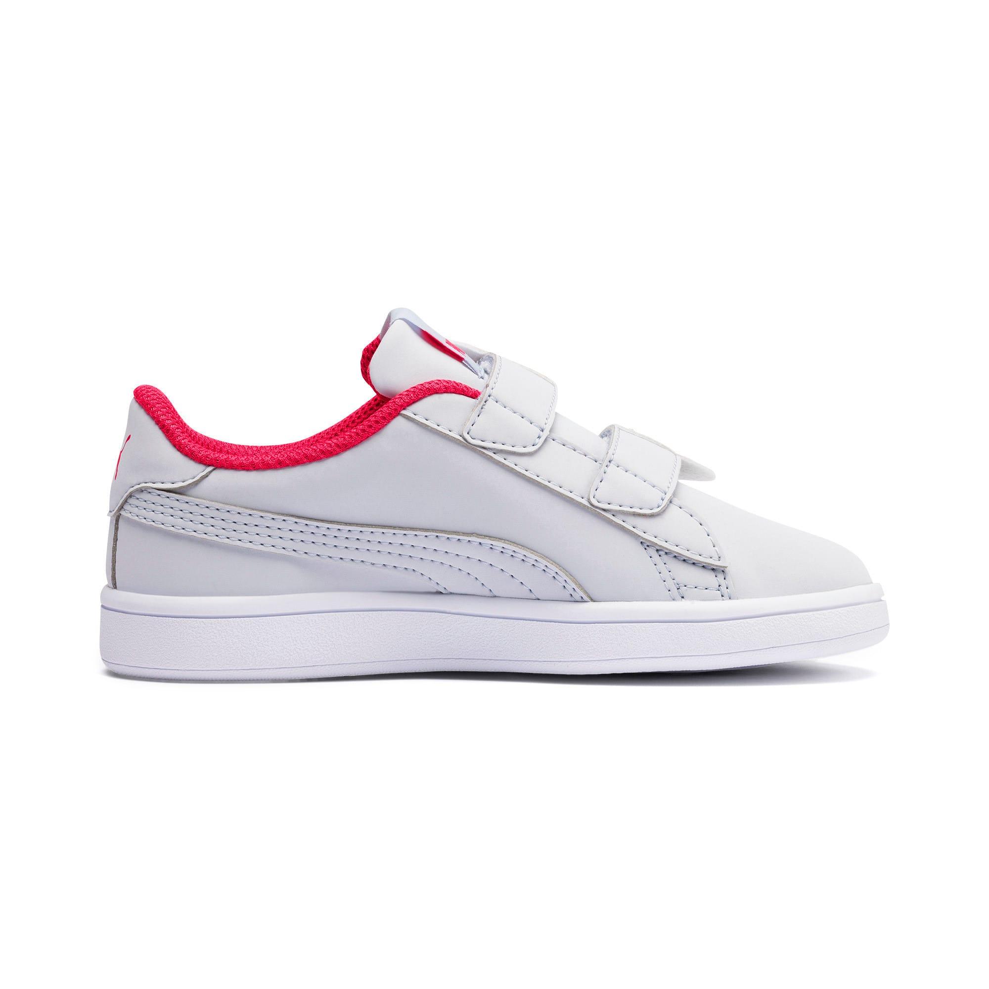 Thumbnail 5 of Puma Smash v2 Butterfly Little Kids' Shoes, Heather-Nrgy Rose-Puma White, medium