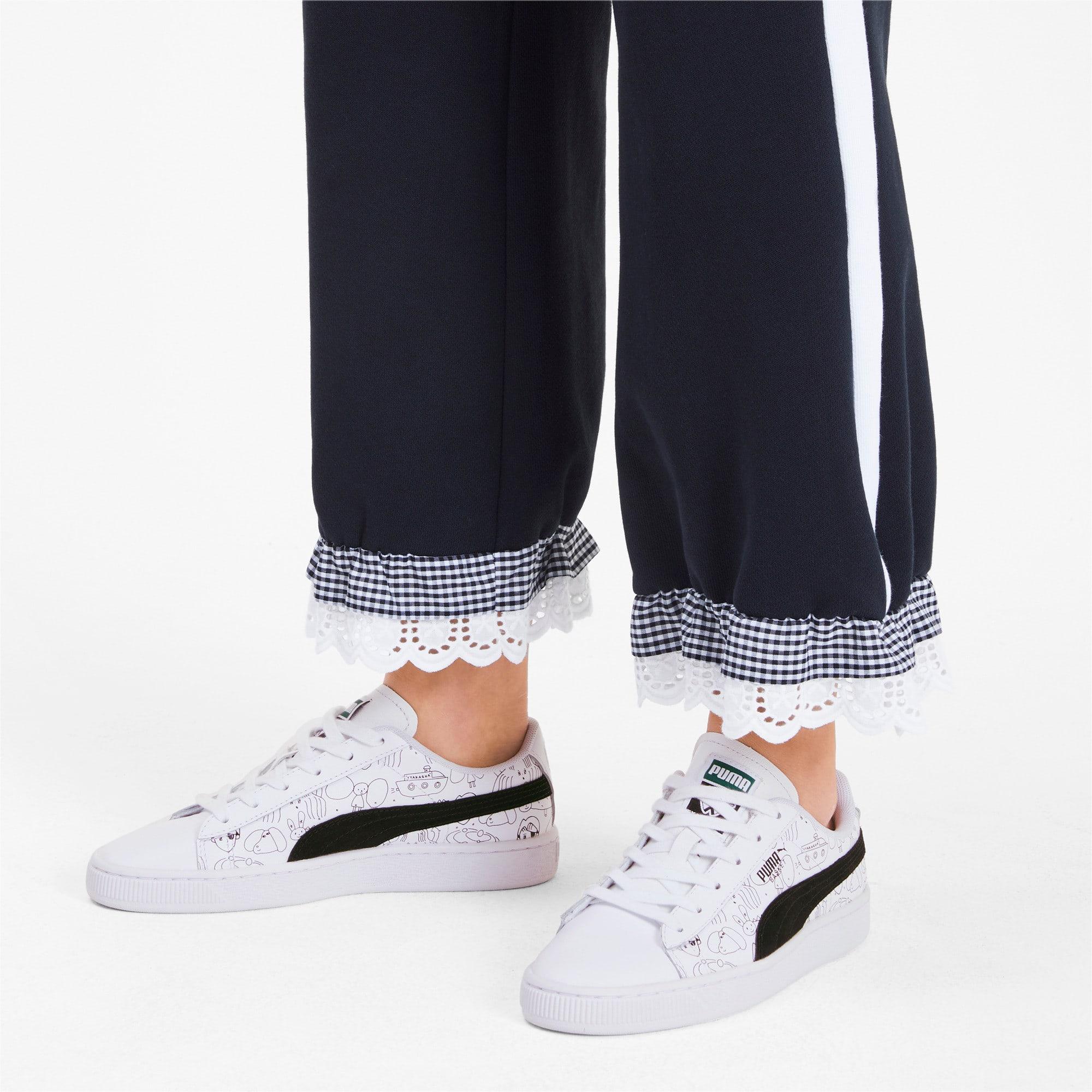 Thumbnail 3 of PUMA x TYAKASHA Basket Sneakers, Puma White-Puma Black, medium