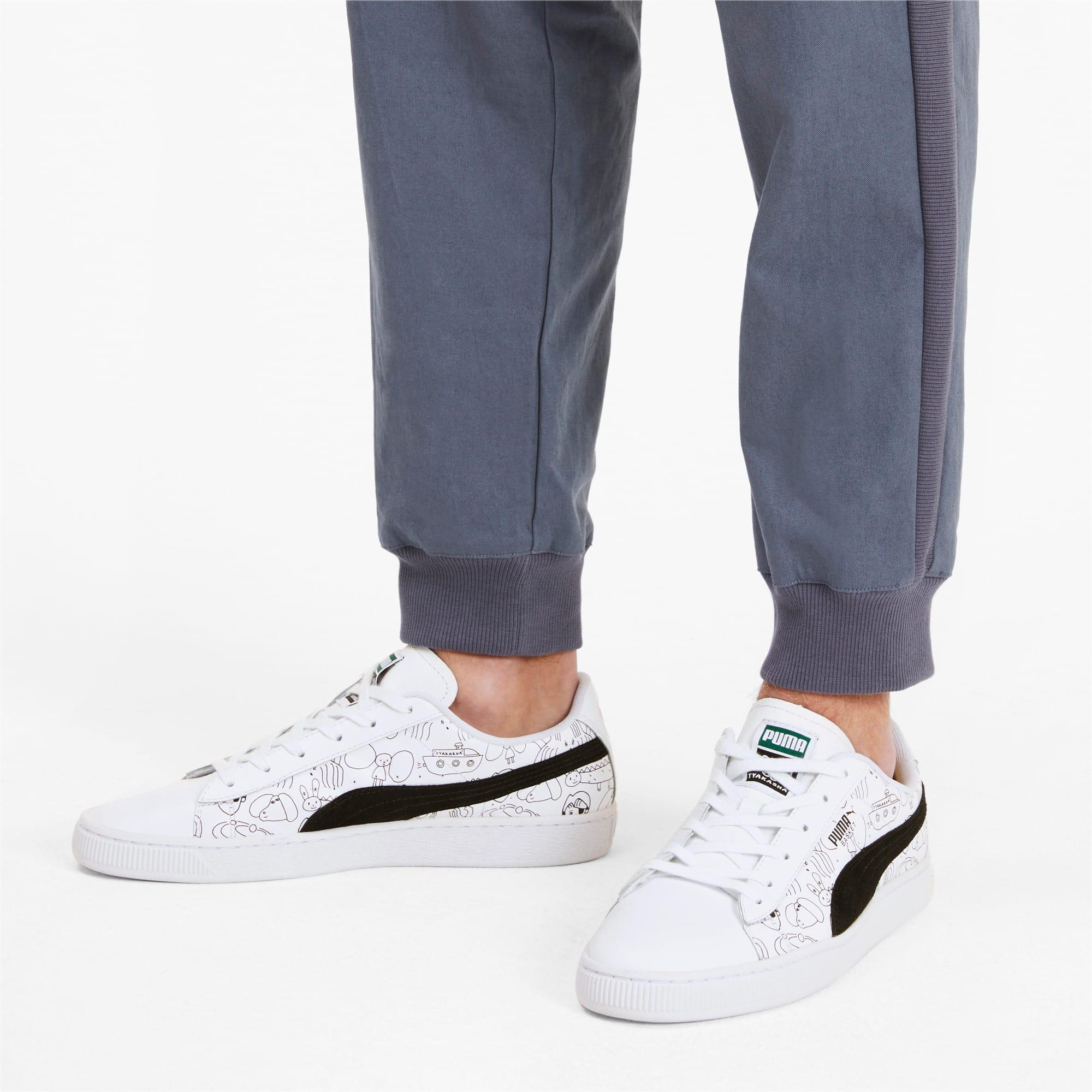 Thumbnail 2 of PUMA x TYAKASHA Basket Sneakers, Puma White-Puma Black, medium