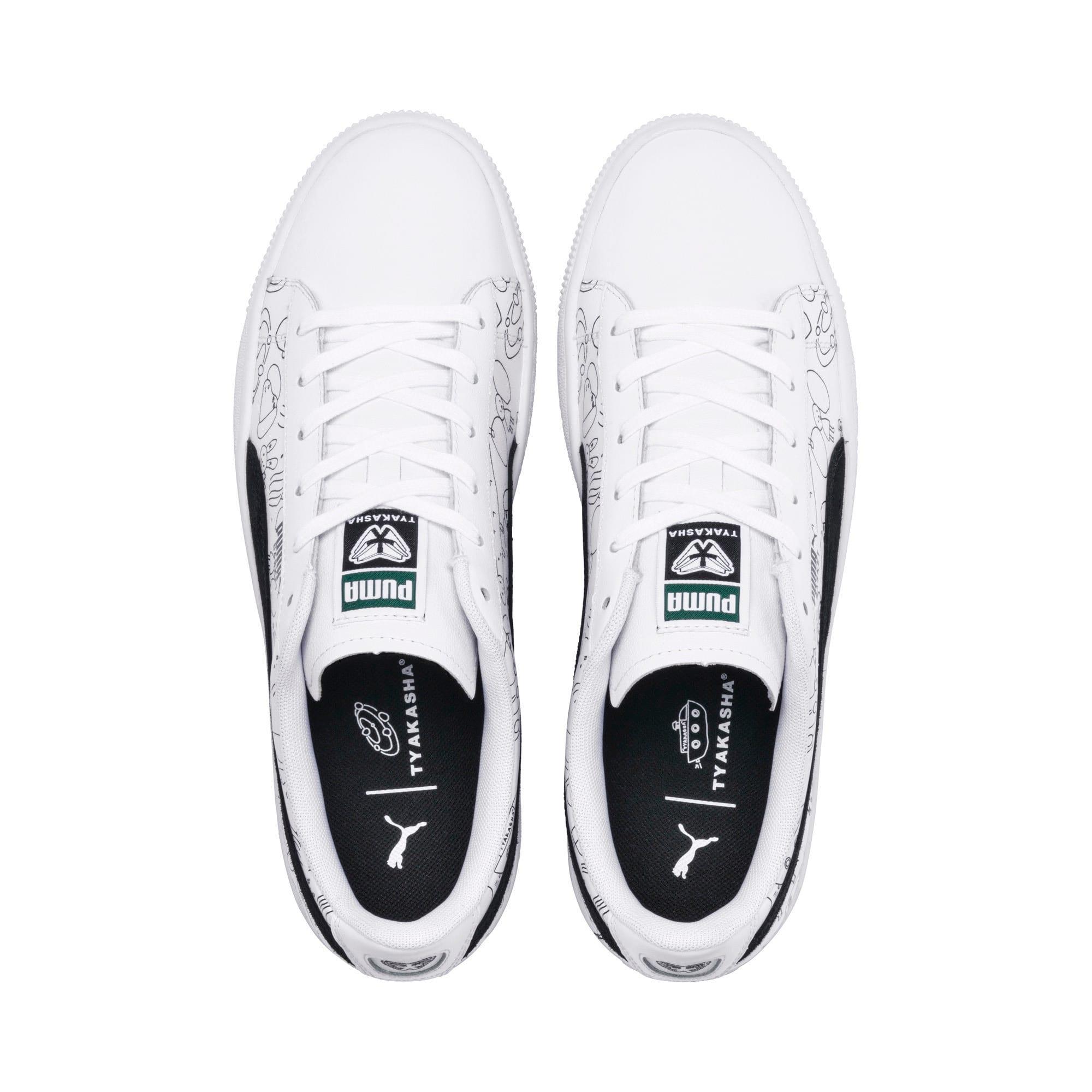 Thumbnail 8 of PUMA x TYAKASHA Basket Sneakers, Puma White-Puma Black, medium