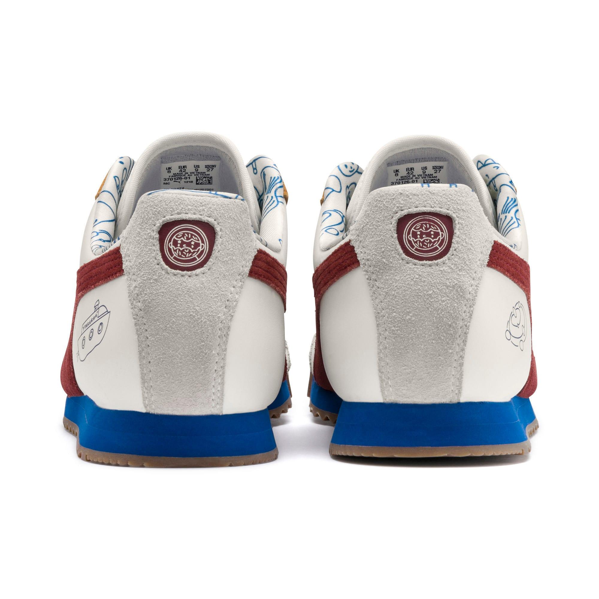Thumbnail 5 of PUMA x TYAKASHA Roma Sneakers, Marshmallow-Fired Brick, medium